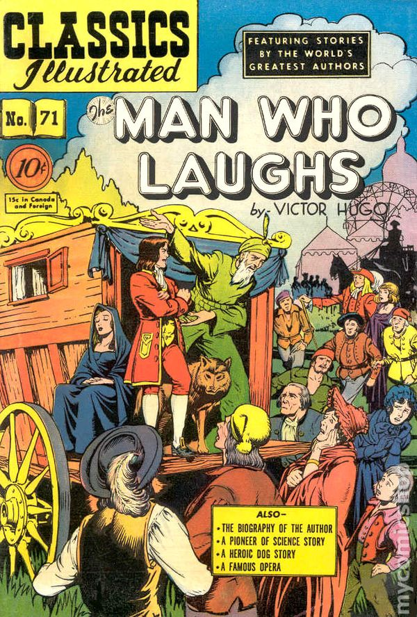 Classics Illustrated 071 The Man Who Laughs 1950 Comic Books Comic Books In Illustrated Book