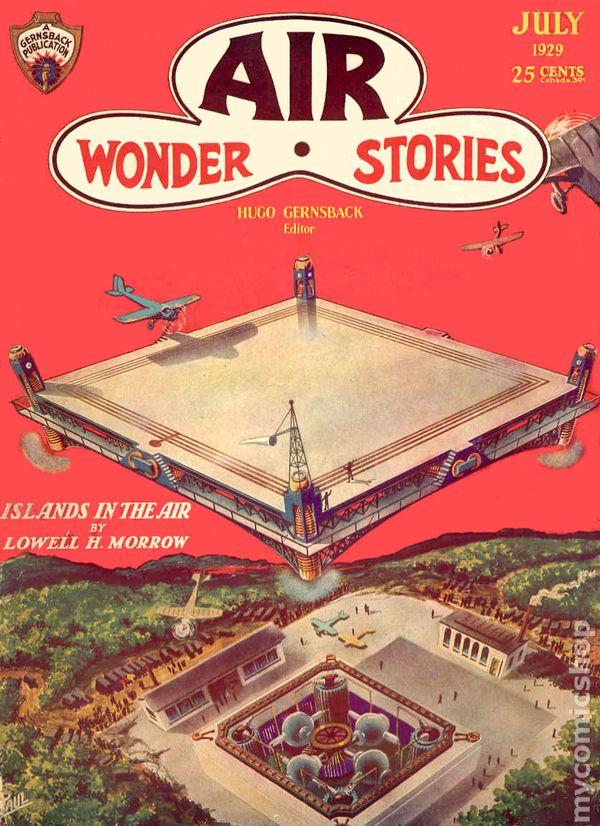 Air Wonder Stories  Vol 1  #5 Pulp November 1929  VGF  Paul cover