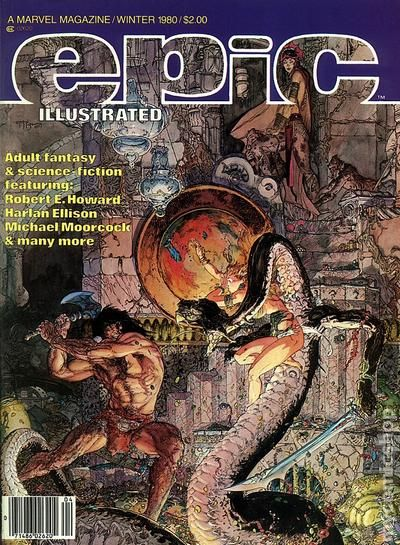 epic illustrated  1980 magazine  comic books