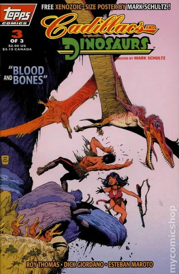 cadillacs and dinosaurs 1994 topps comic books. Cars Review. Best American Auto & Cars Review
