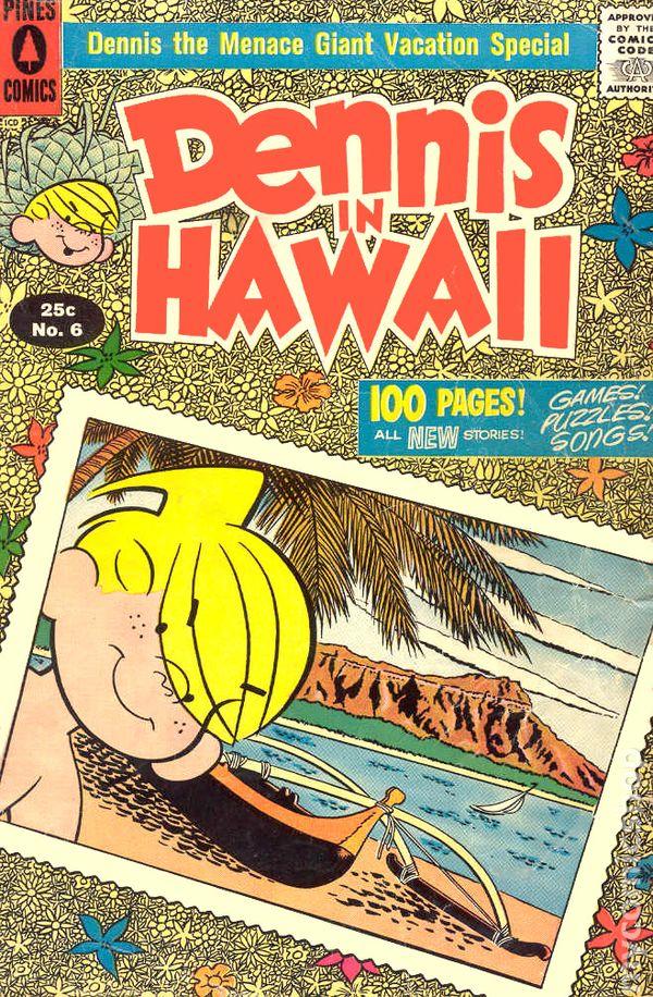 dennis the menace in hawaii  1958 giants  comic books