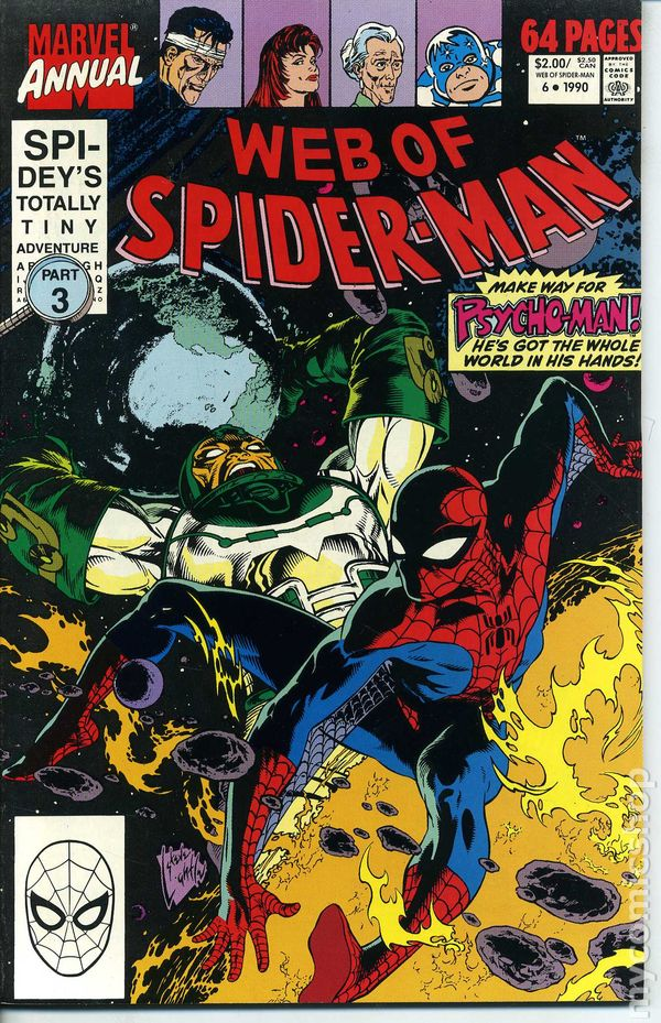 Mark Chapter 6 >> Web of Spider-Man (1985 1st Series) Annual comic books