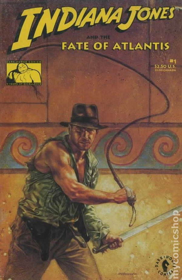 indiana jones and the fate of atlantis 1991 comic books