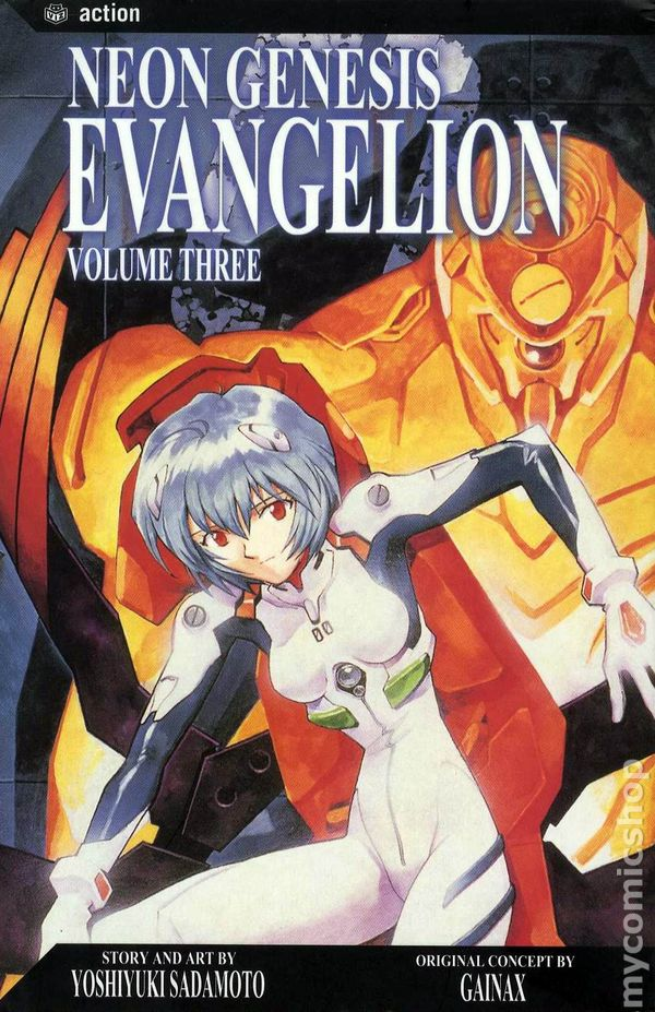 Viz Media Neon Genesis Evangelion Vol 1 and 4 Manga
