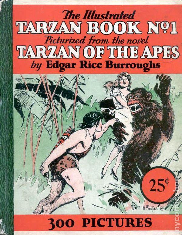 Illustrated Book Cover Zone : Illustrated tarzan book comic books