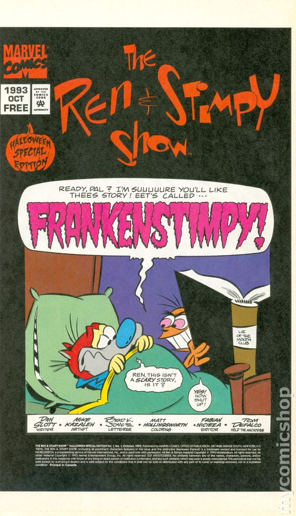 ren and stimpy show halloween special edition  1993  comic books