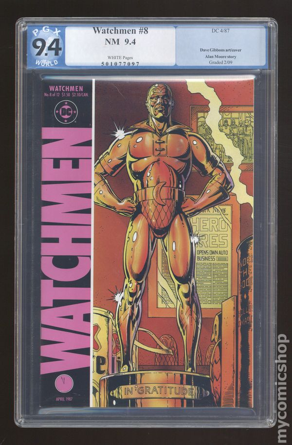 watchmen by alan moore essays No comic book has been the subject of more essays and serious literary discussion than alan moore and dave gibbons\' watchmen download watchmen (1-12 series.