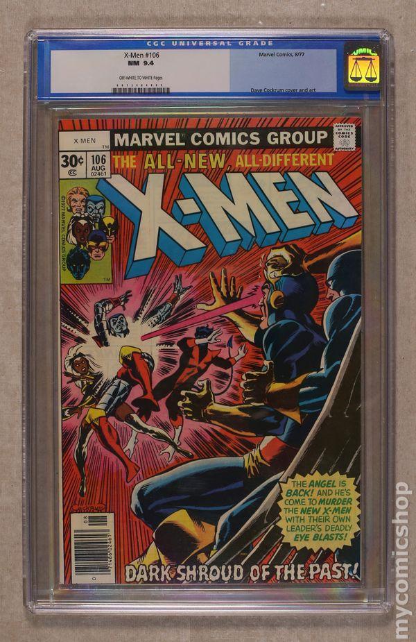 DARK SHROUD OF THE PAST VERY FINE VF X-MEN #106 MARVEL COMICS 1977 7.5
