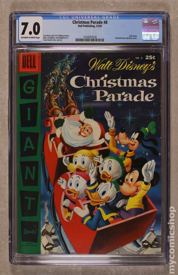 Comic books in \'Christmas Parade Issues\', graded by CGC