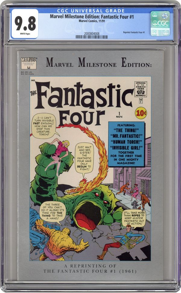 1991 MARVEL Comics THE FANTASTIC FOUR #1 Marvel Milestone Edition FN//VF