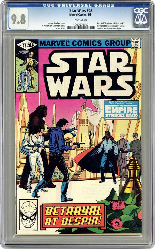 EMPIRE STRIKES BACK MOVIE ADAPTATION 1st SERIES 1977 STAR WARS #44 FINE