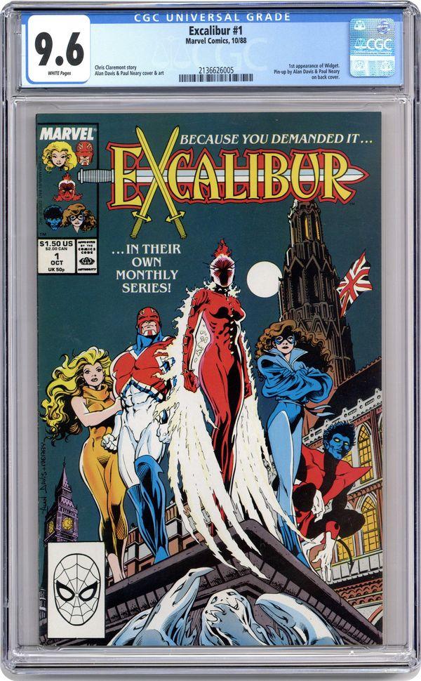 Excalibur 1988 series # 9 near mint comic book