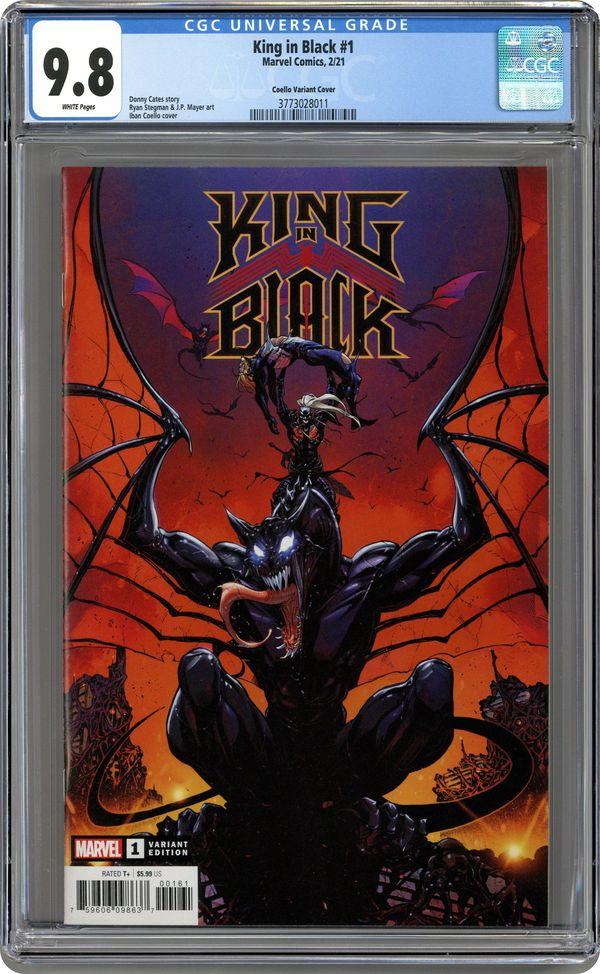 KING IN BLACK HANDBOOK #1 CGC 9.8 Graded PRESALE Marvel Comics 3//3//21