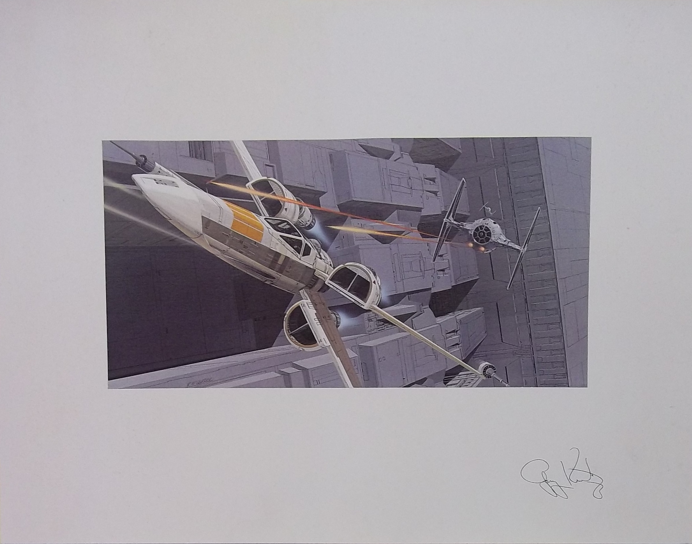 Zoom Front Cover. Tie Fighter Vs. X Wing Print By Ralph McQuarrie