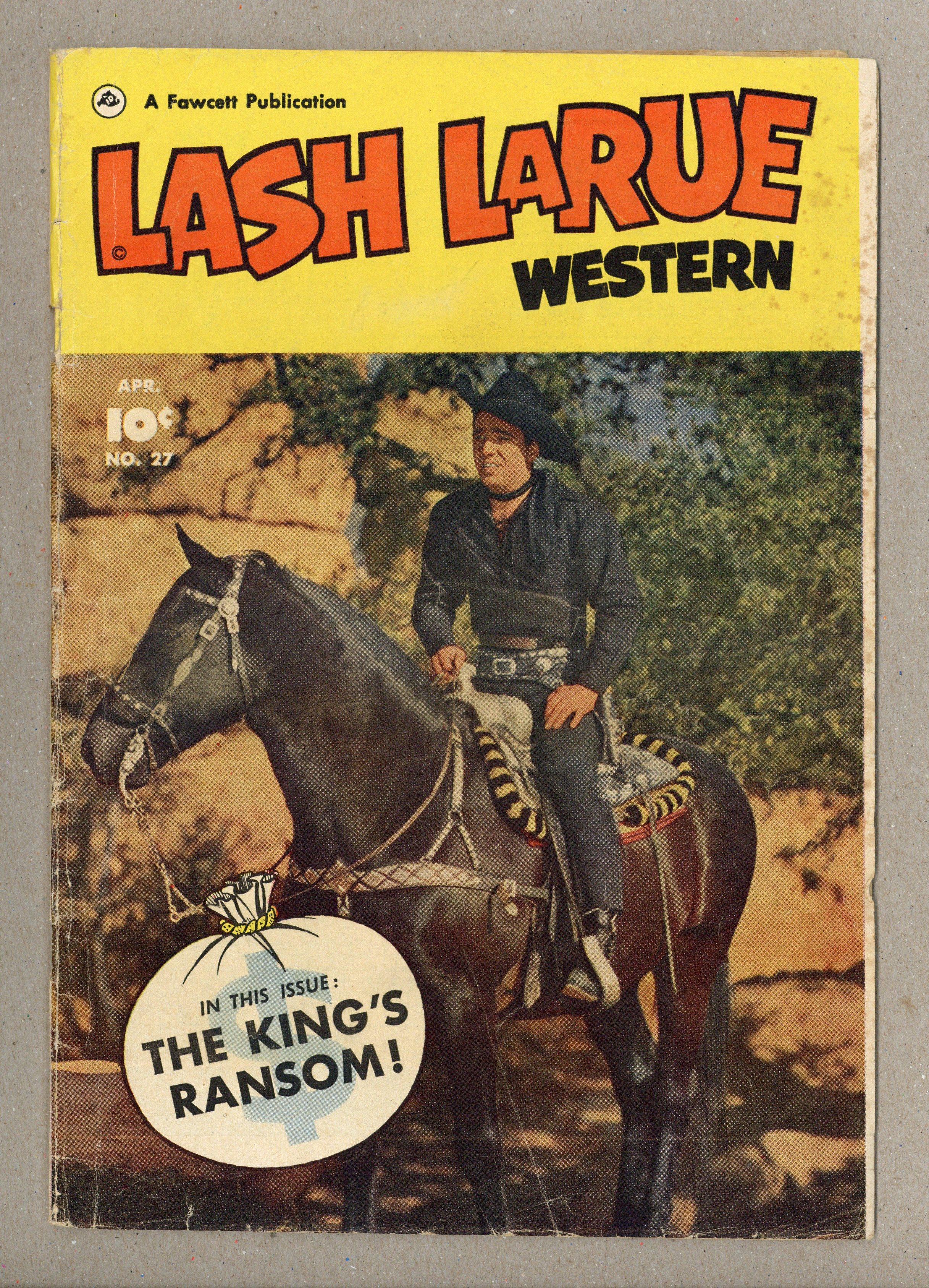 Lash Larue Western Fawcettcharlton 27 1952 Gdvg 30 Ebay