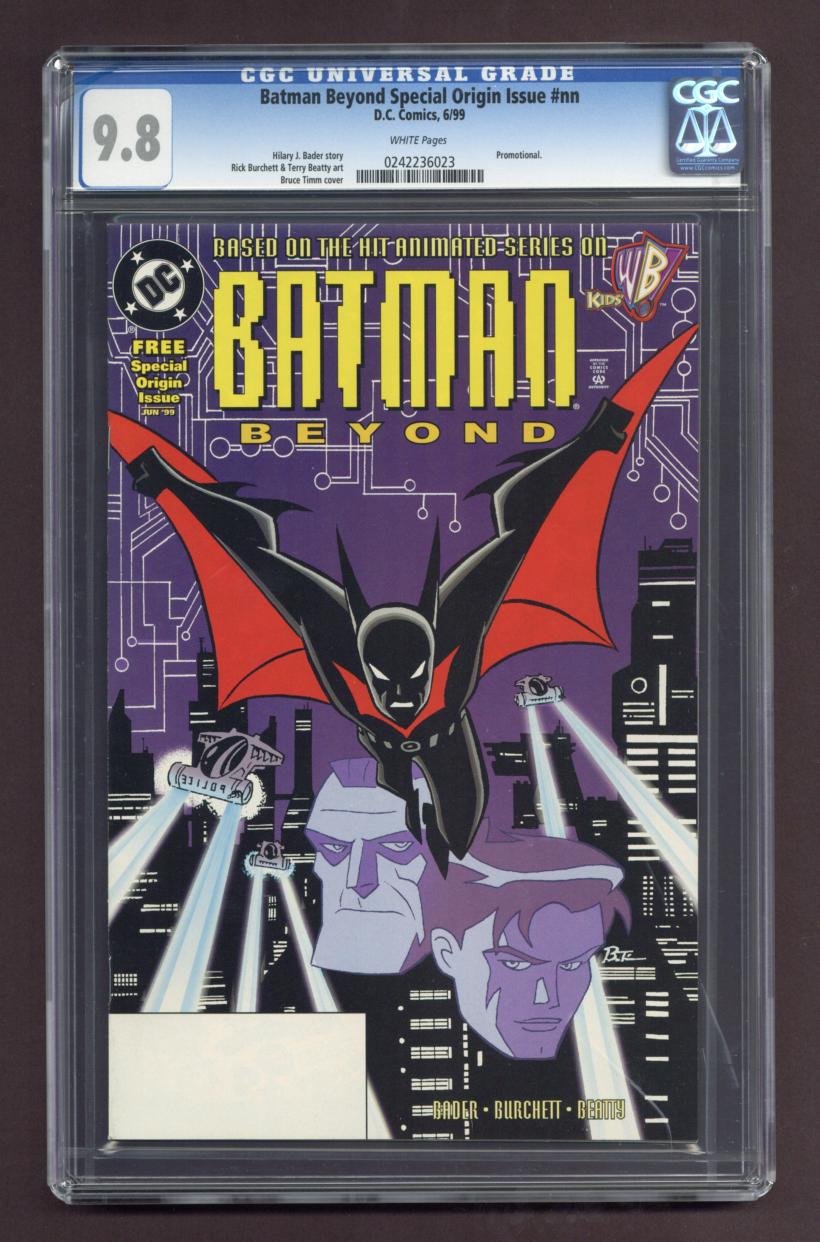 Batman beyond special origin issue comic books graded by cgc zoom front cover batman beyond special origin voltagebd Image collections