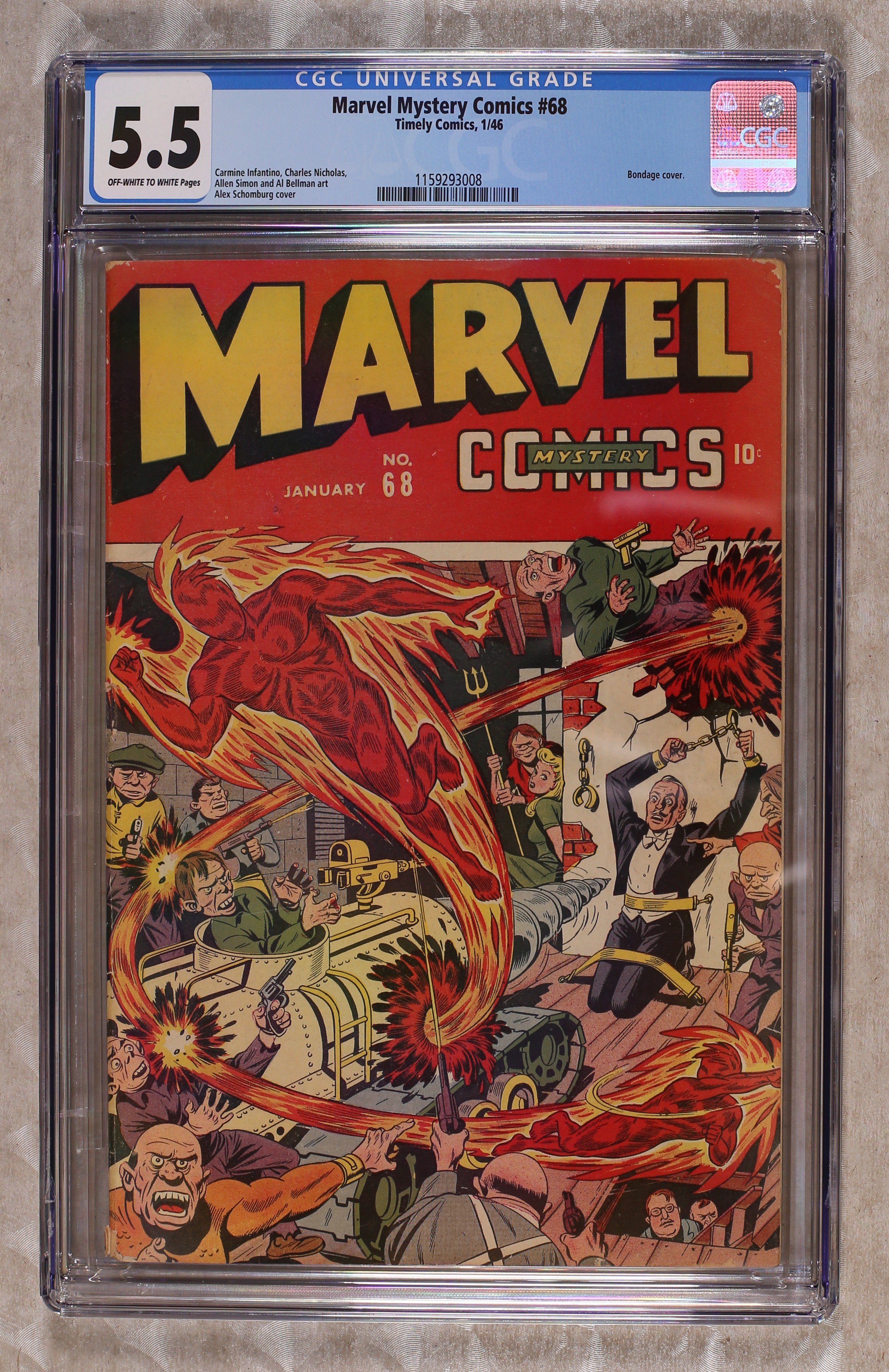 Marvel Mystery Comics comic books graded by CGC