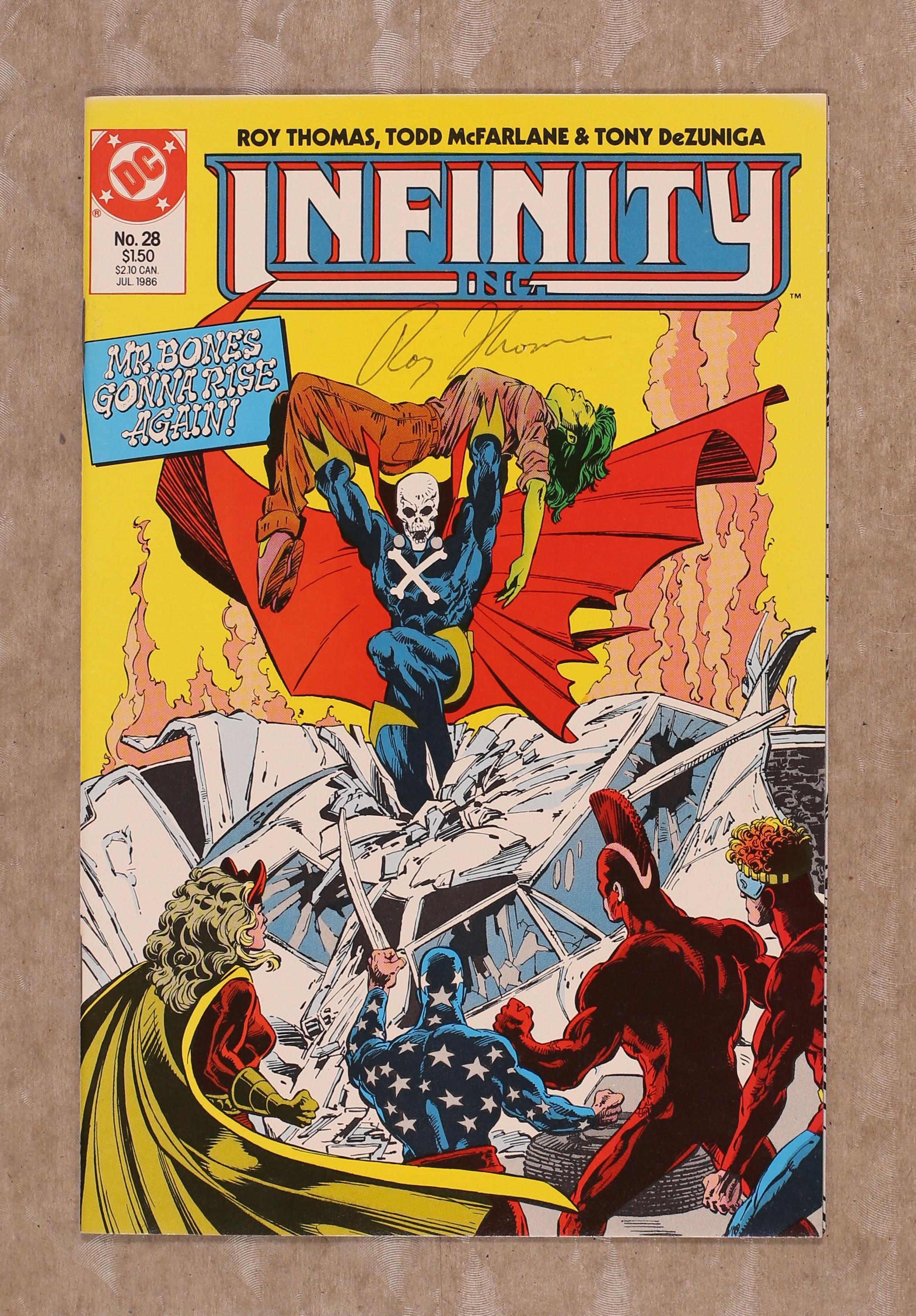 Infinity Inc #5 VF 1984 Stock Image
