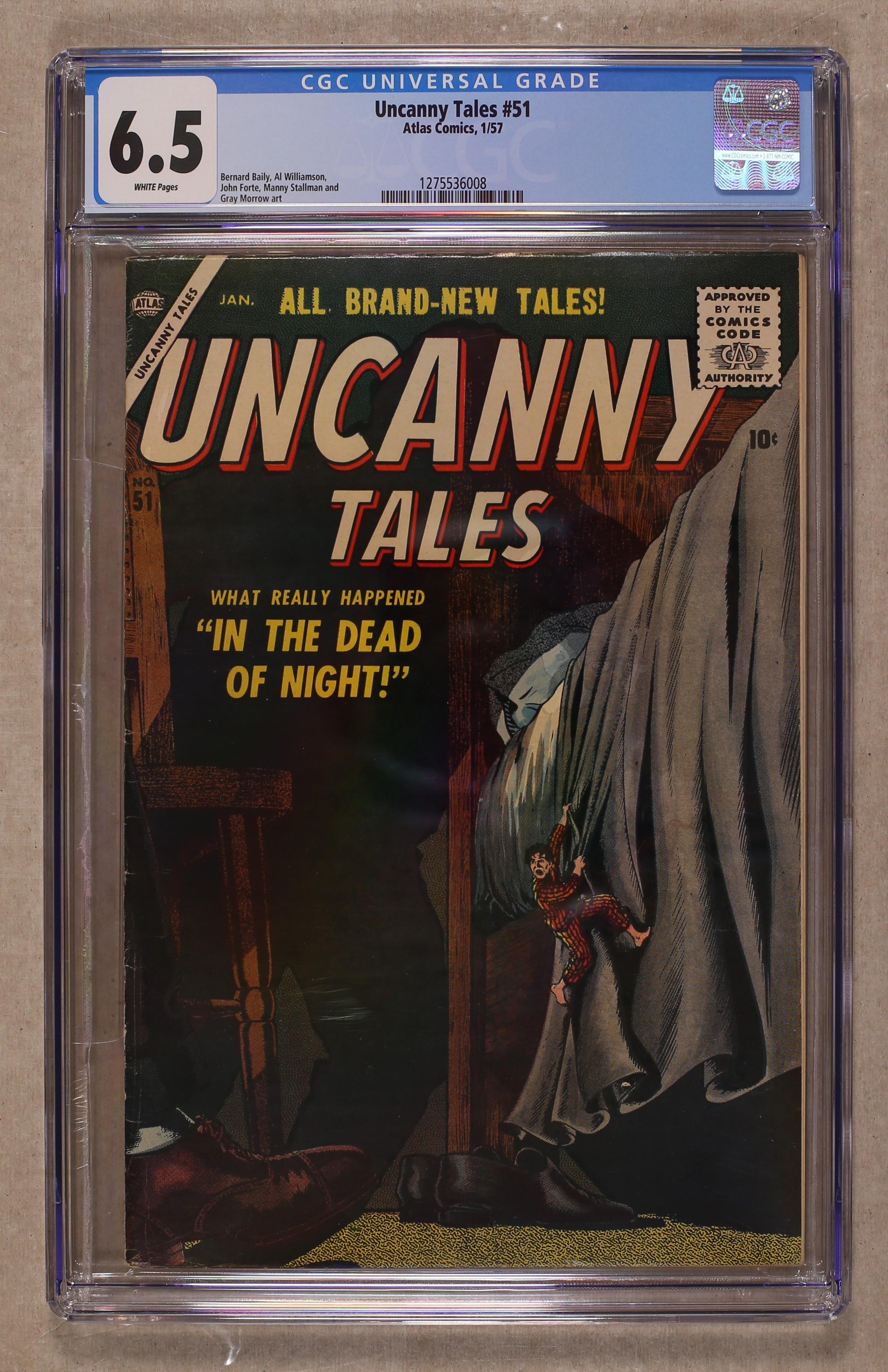 Uncanny Tales (1952 Atlas) comic books graded by CGC