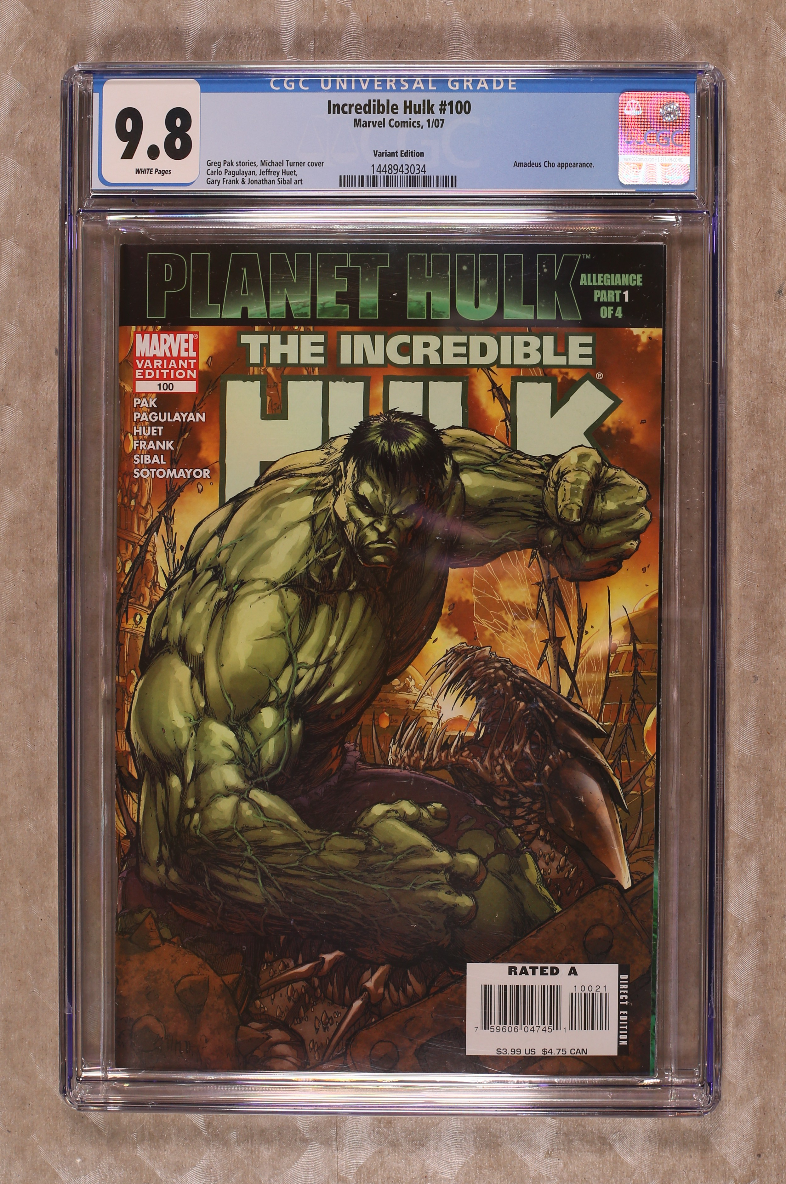 Incredible Hulk comic books 2007, graded by CGC. Item #46997652. Actual  item pictured; not a generic image.