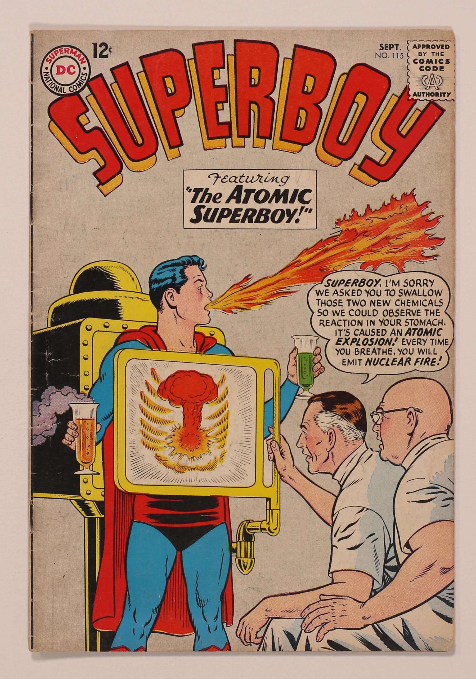 Superboy #115 GD//VG 3.0 1964 Stock Image Low Grade