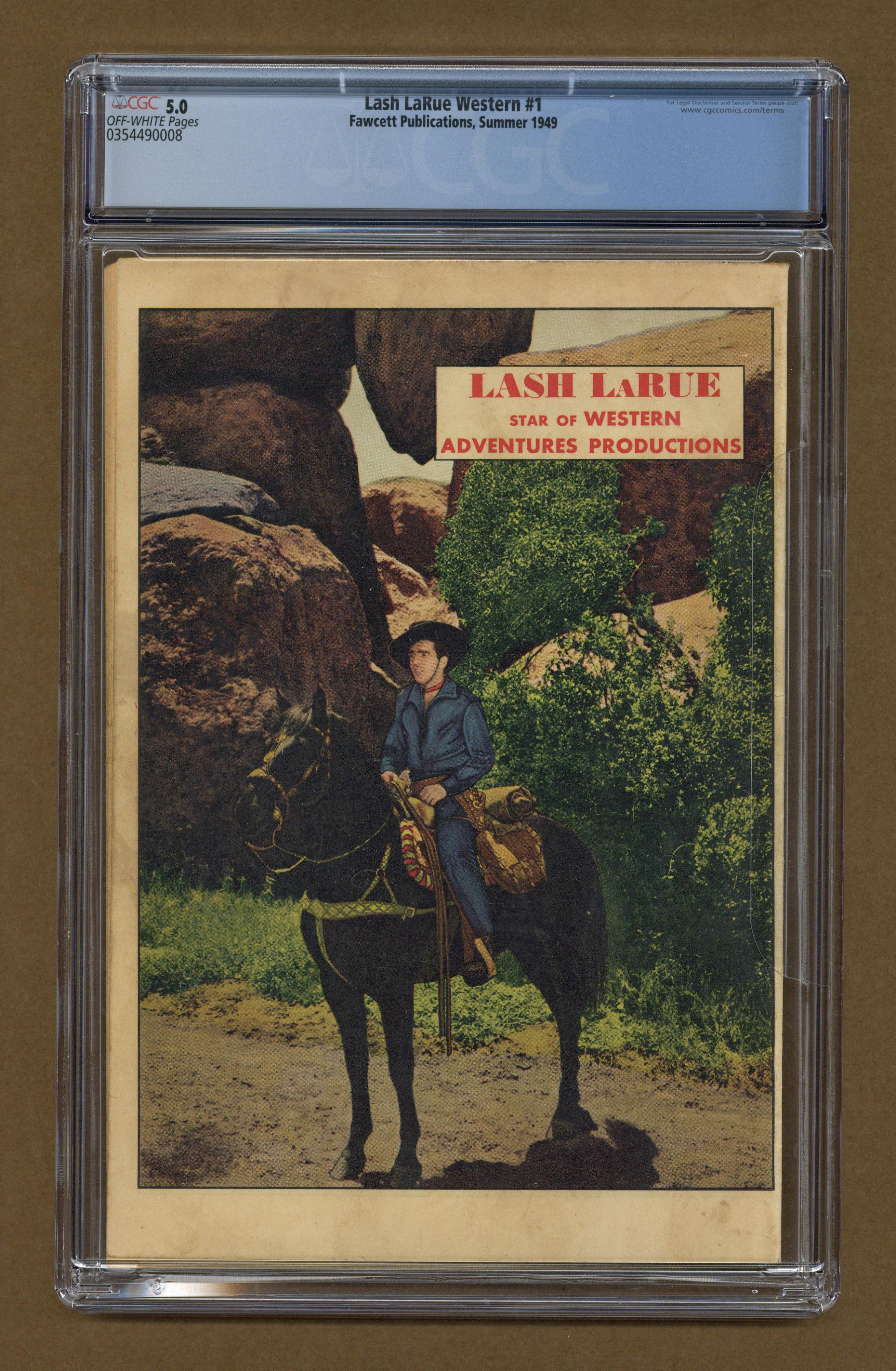 Lash Larue Western 1949 Fawcettcharlton Comic Books Graded By Cgc