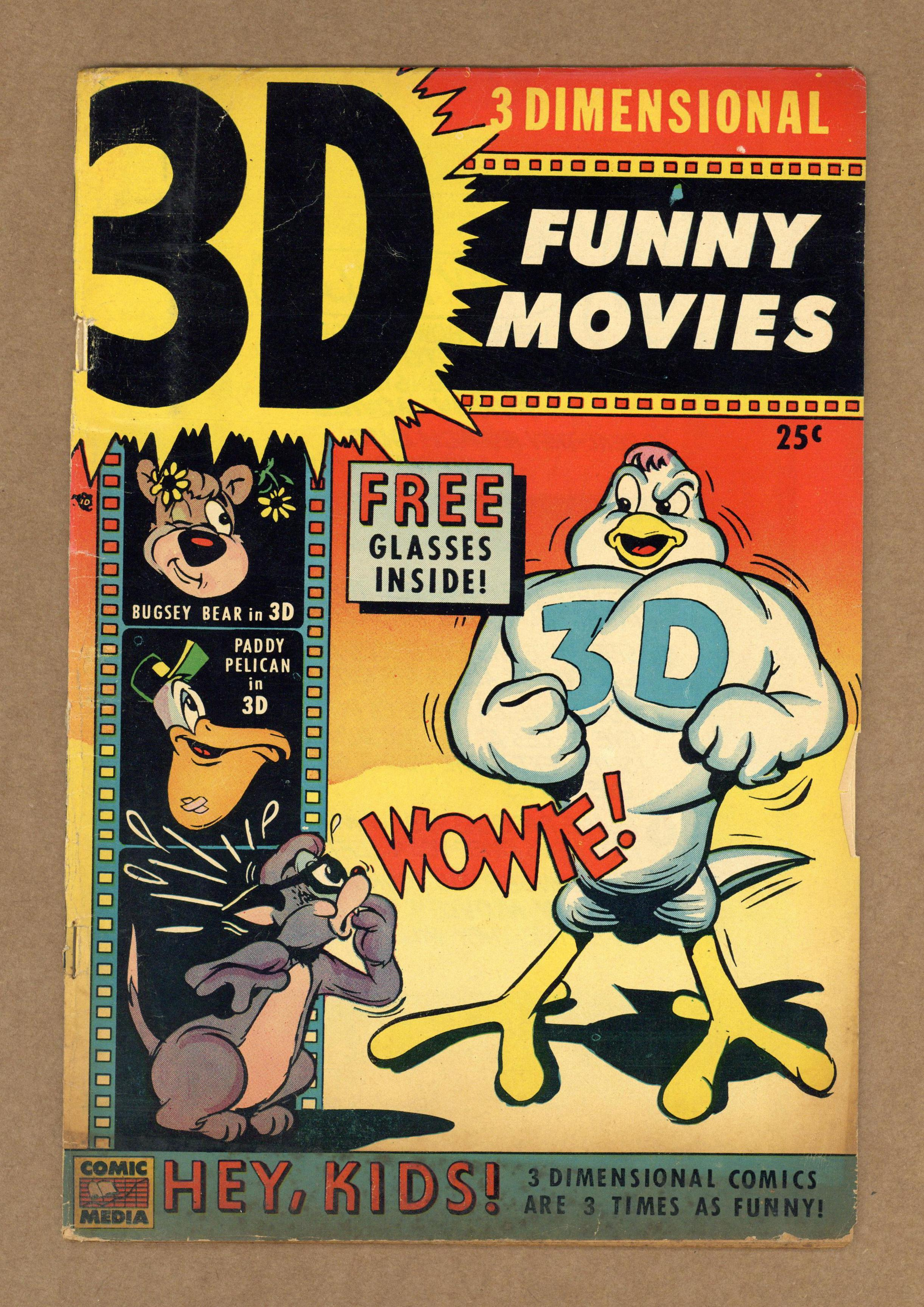 Details about 3-D Funny Movies #1 1953 GD- 1 8