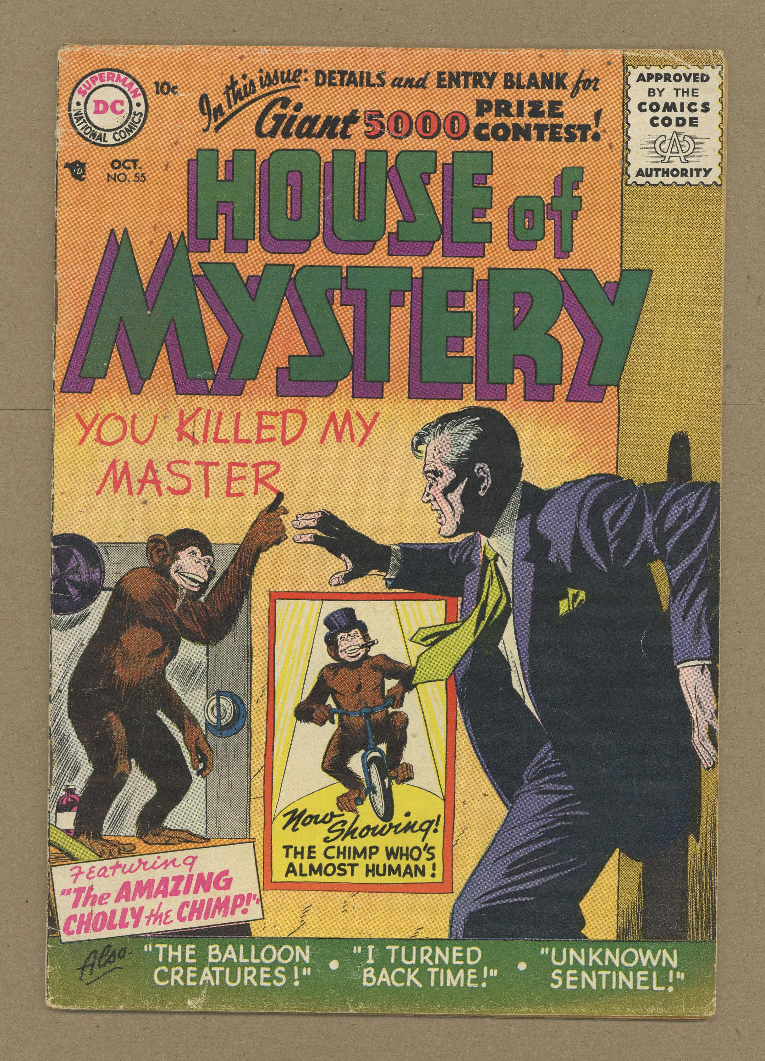 House Of Mystery (1951-1983 1st Series) 55 GD/VG 3.0