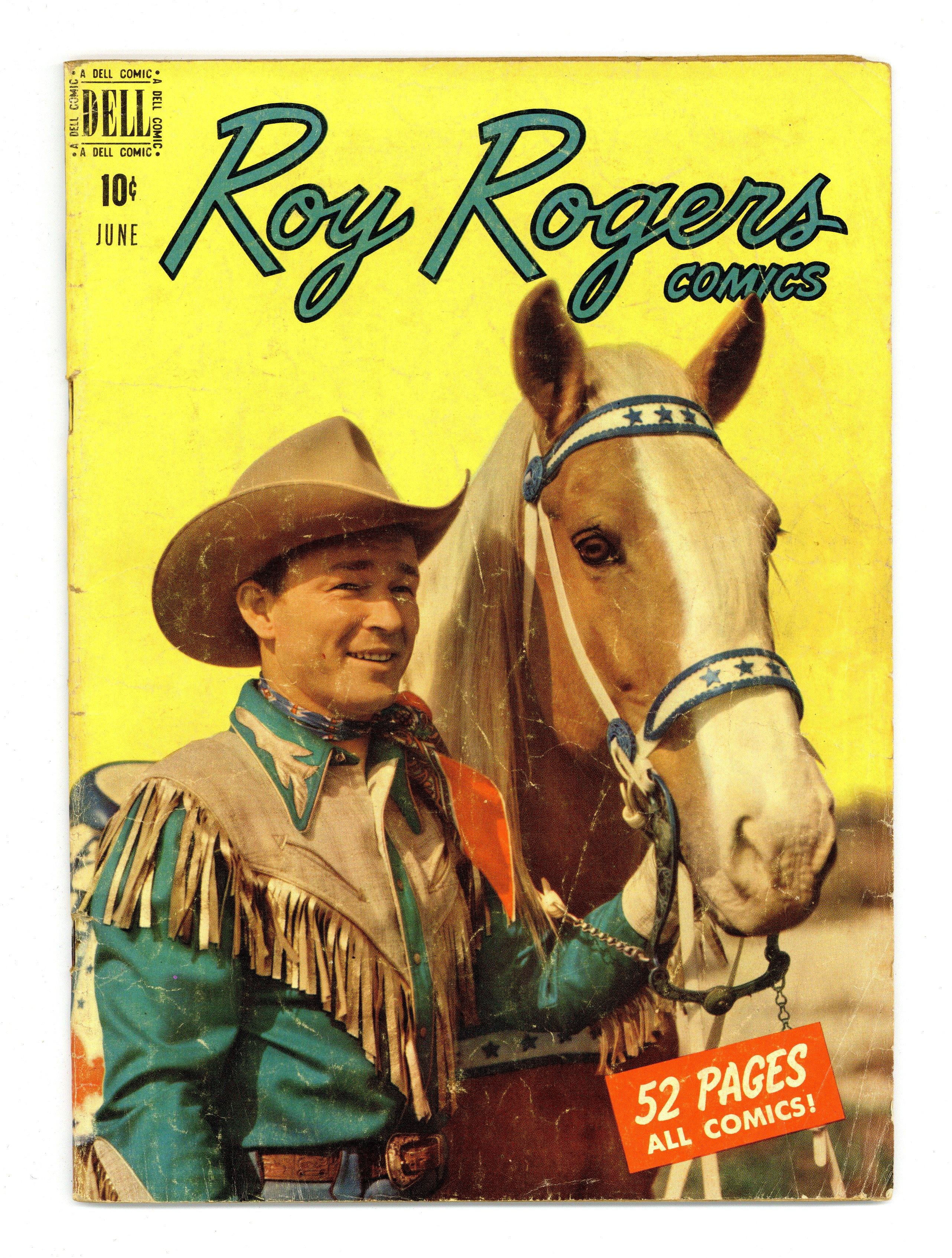 Roy Rogers/' Trigger #17 VG 1955 Stock Image Low Grade