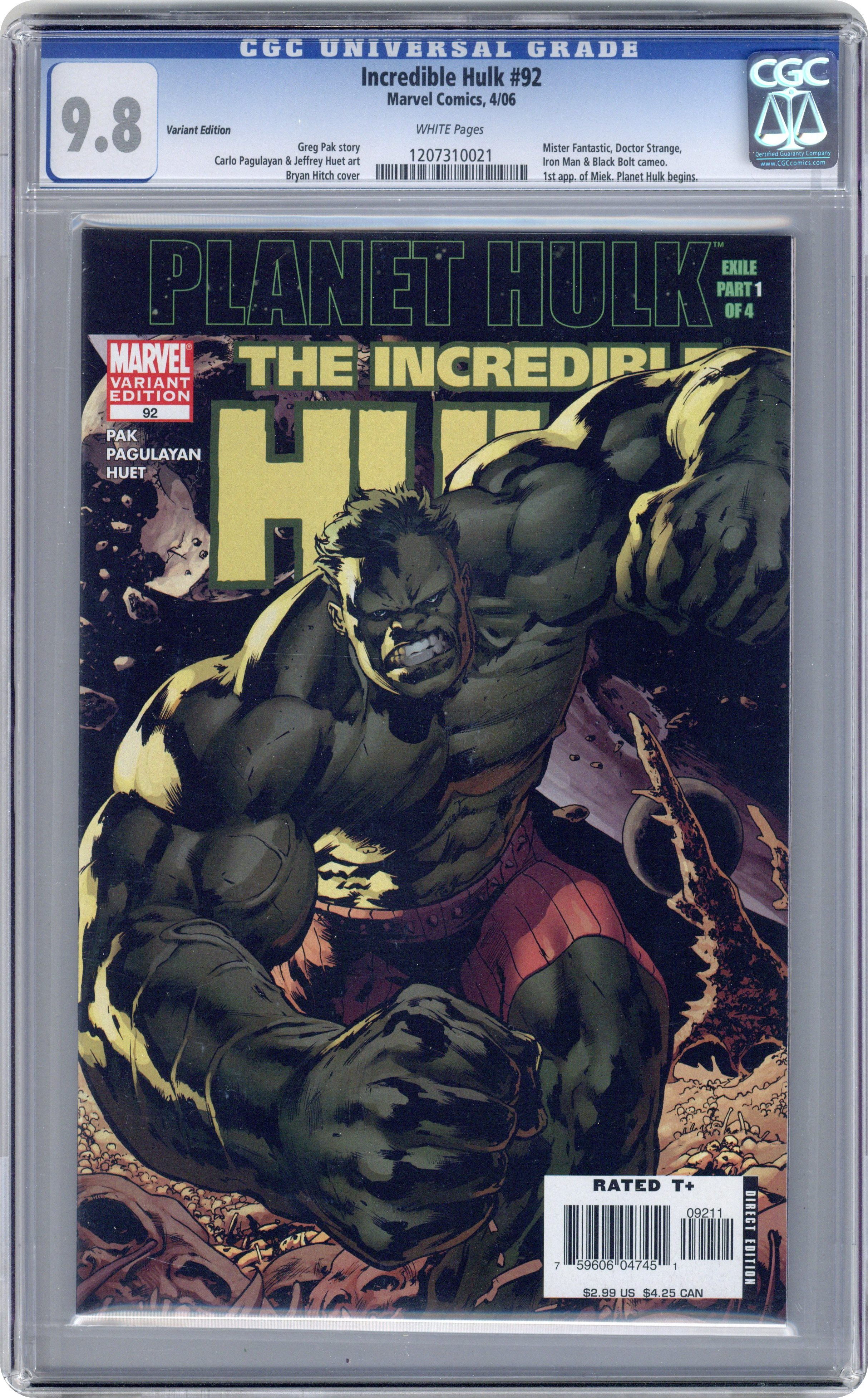 Actual item pictured; not a generic image. Zoom Front Cover · Incredible  Hulk (1999 ...