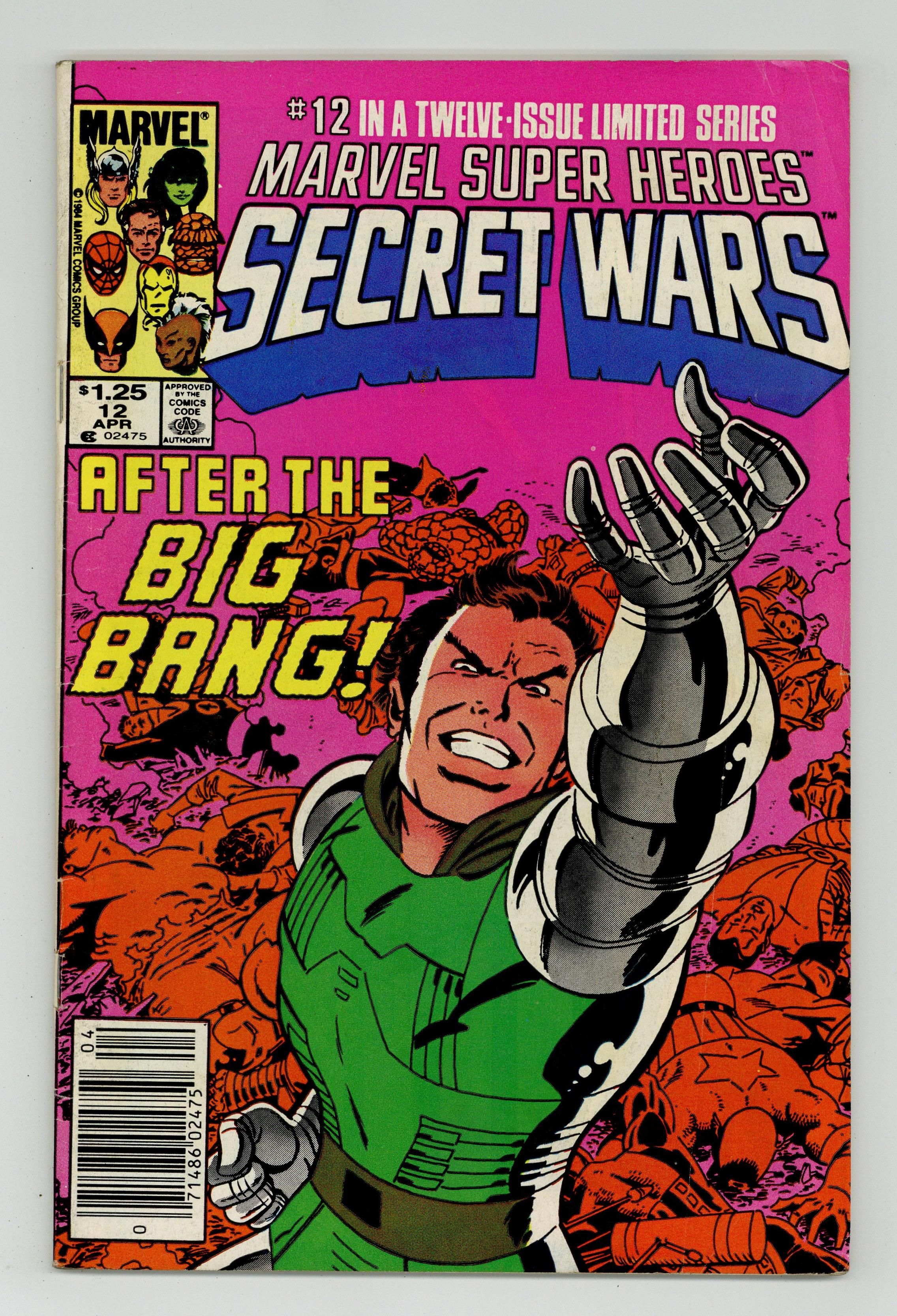 Details about Marvel Super Heroes Secret Wars Canadian Price Variant #12  1985 GD/VG 3 0