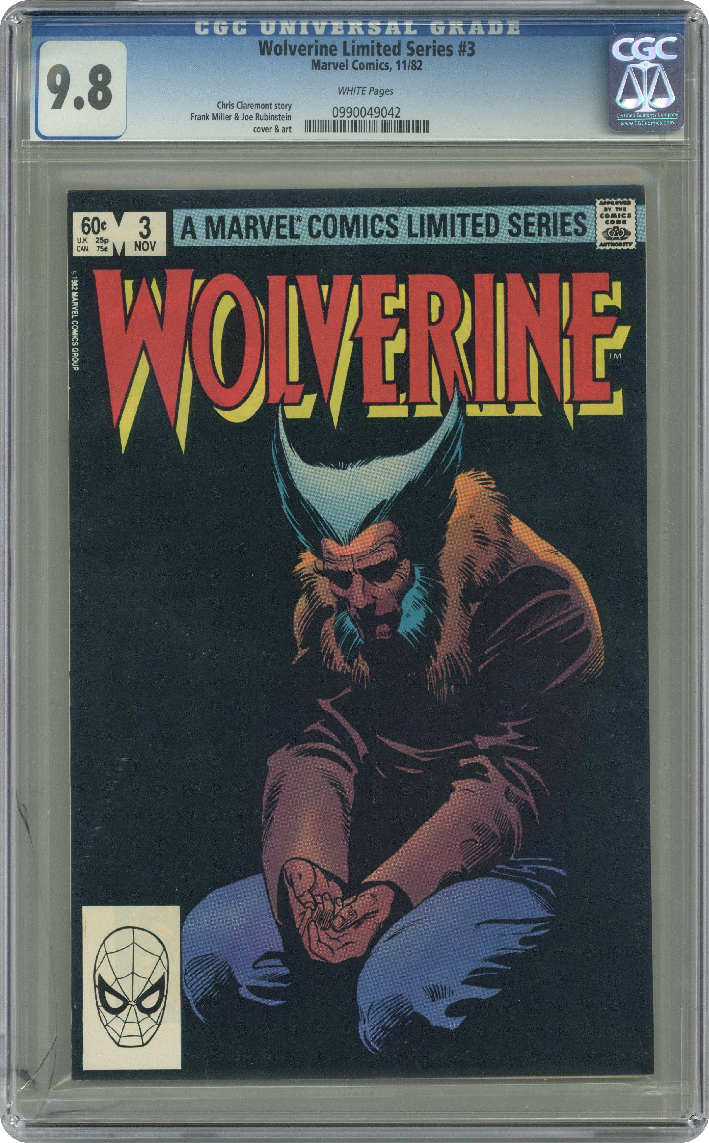 Wolverine Limited Series #1 CGC 7.0 1982 First Solo Comic WHITE PAGES