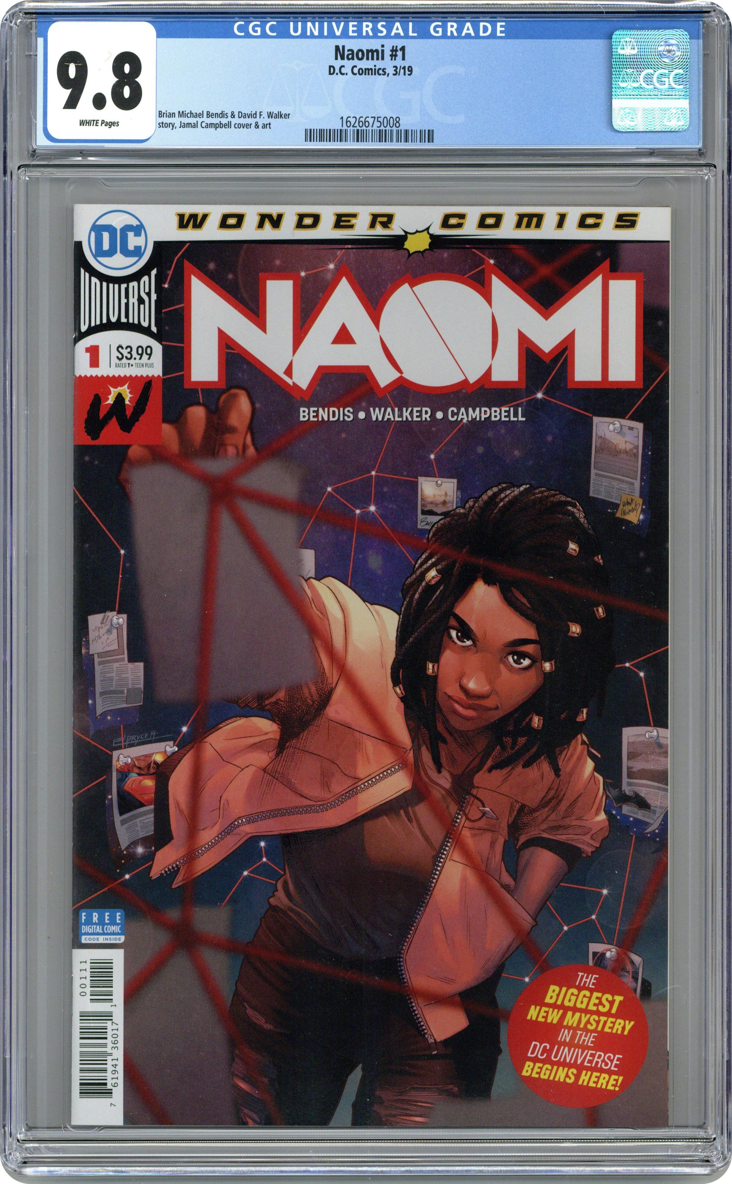 Naomi (2018 DC) comic books graded by CGC