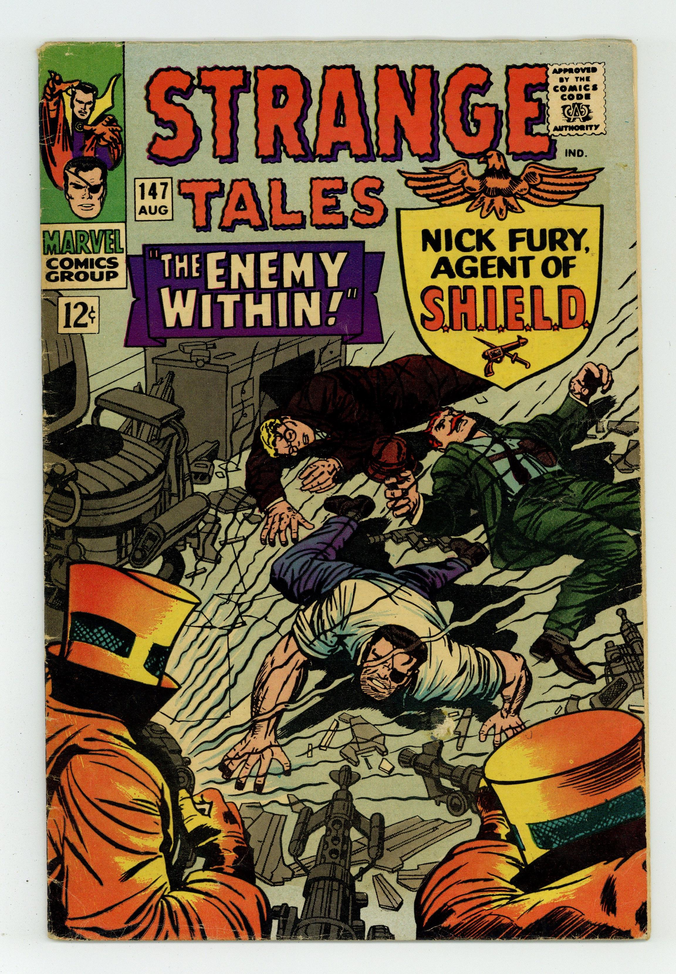 Strange Tales #147 GD//VG 3.0 1966 Stock Image Low Grade