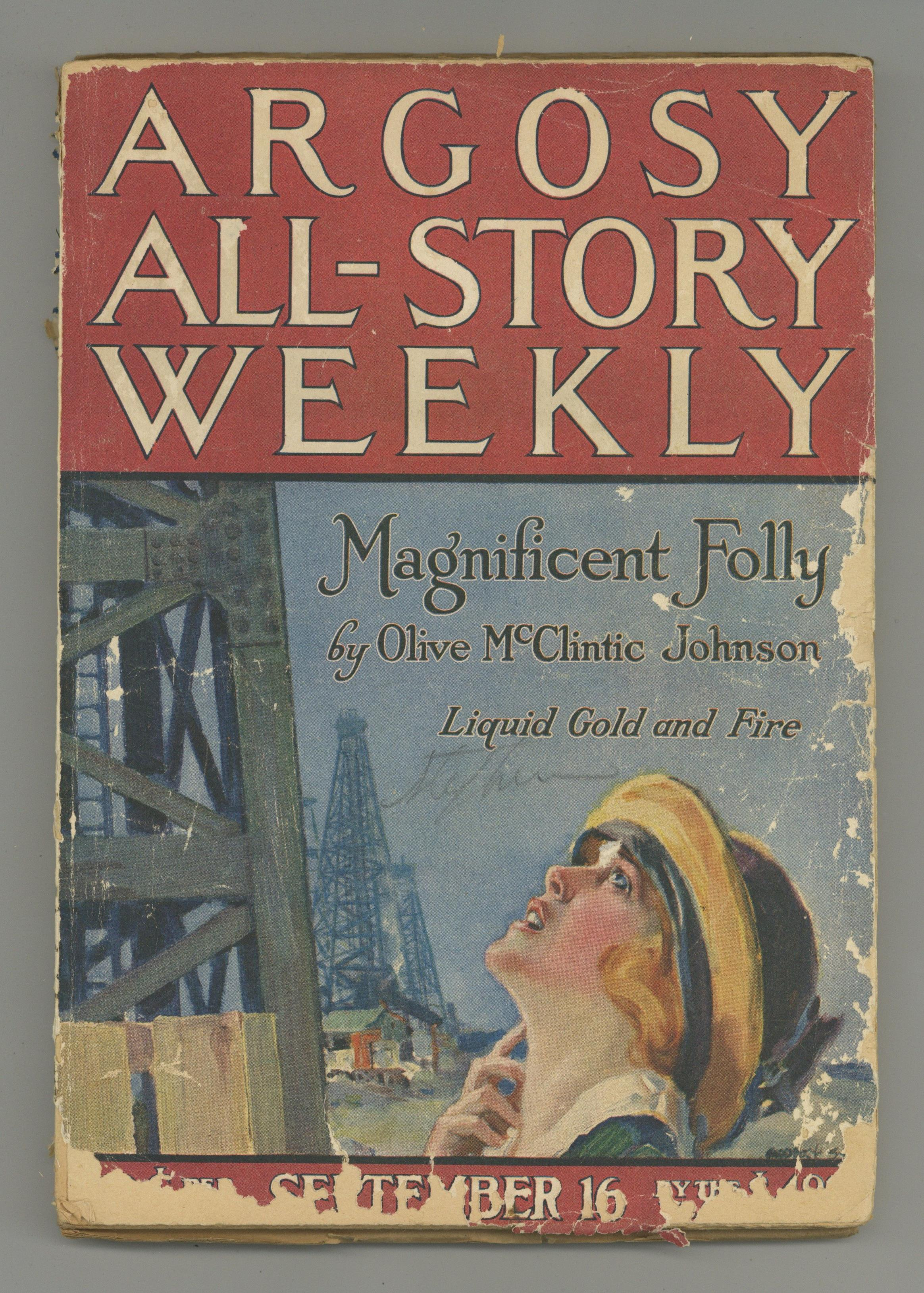 Details about Argosy Part 3: Argosy All Story Weekly #Vol. 145 #5 FR 1.0 1922 Low Grade