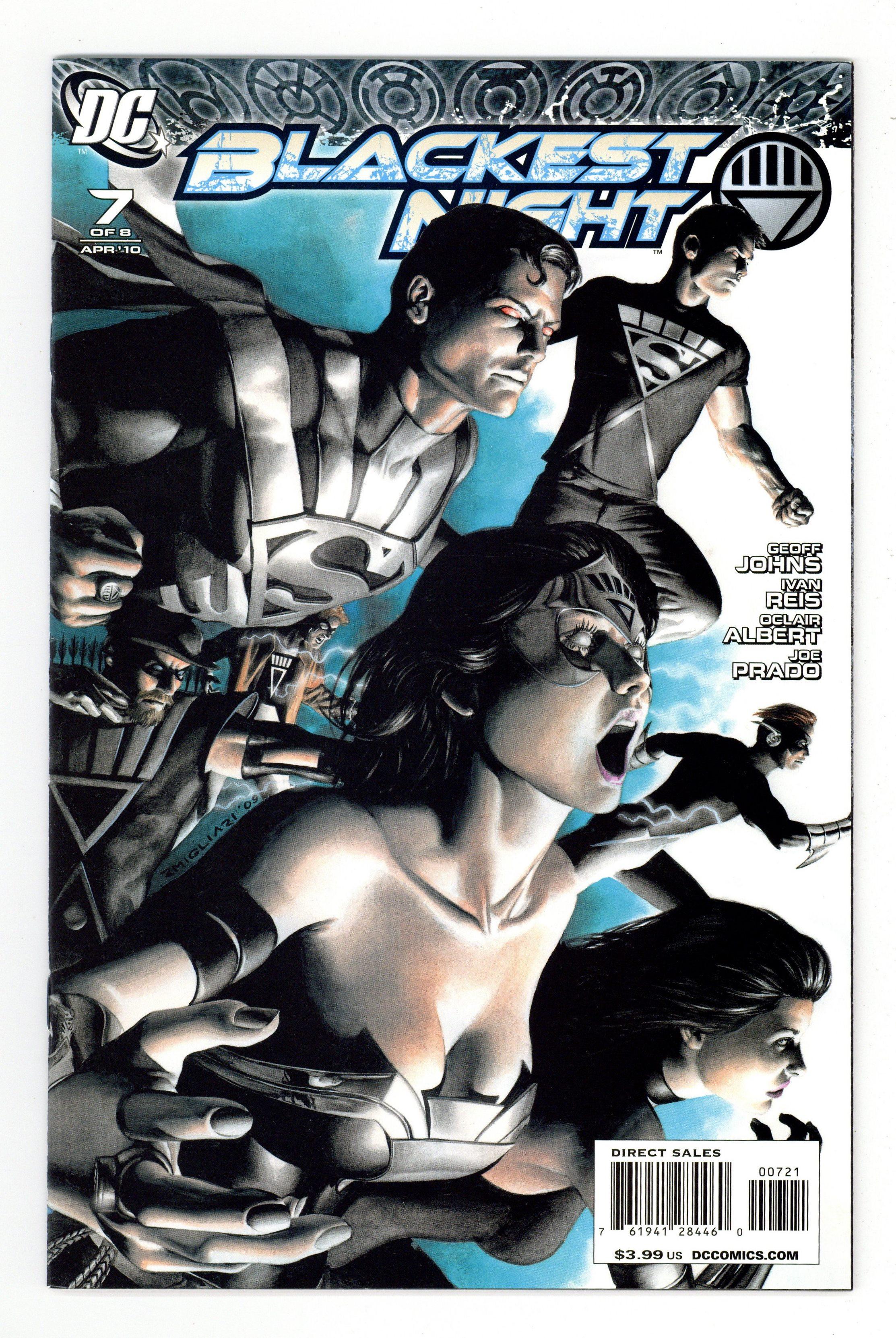 Blackest Night #5 2010, DC 1:25 Migliari Variant Batman Black  Lantern