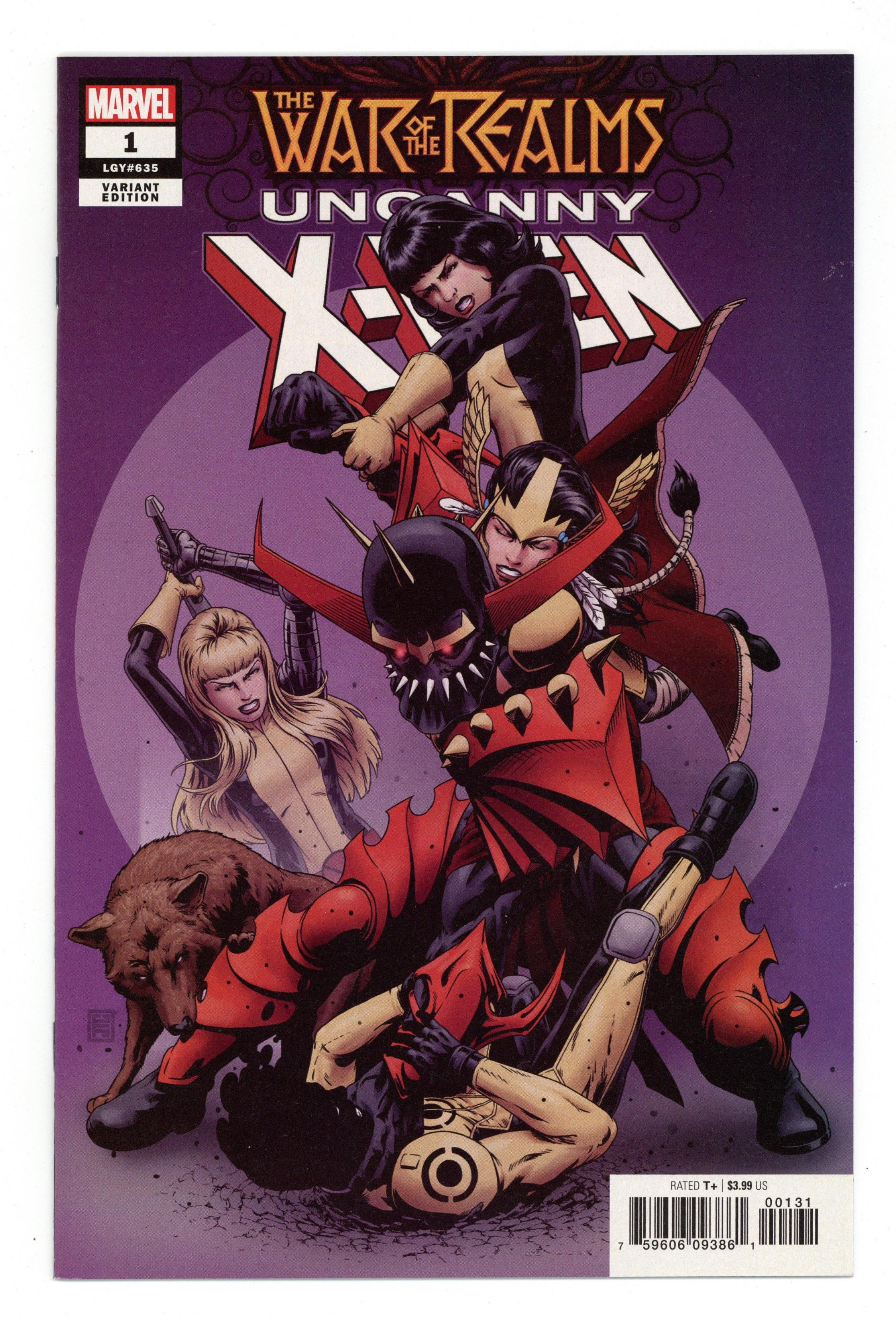 War of the Realms Uncanny X-Men 1A Yardin Variant VF 2019 Stock Image