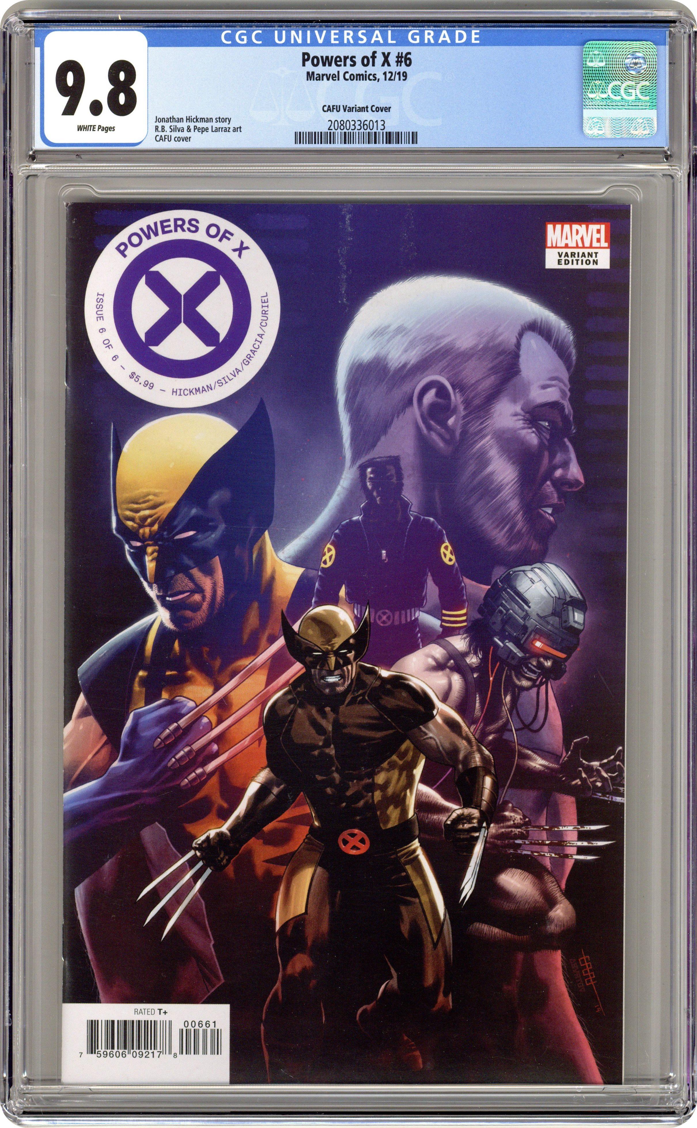 Powers of X #5  Silva Cover  X-Men  Marvel Comics     1st Print    CGC 9.8