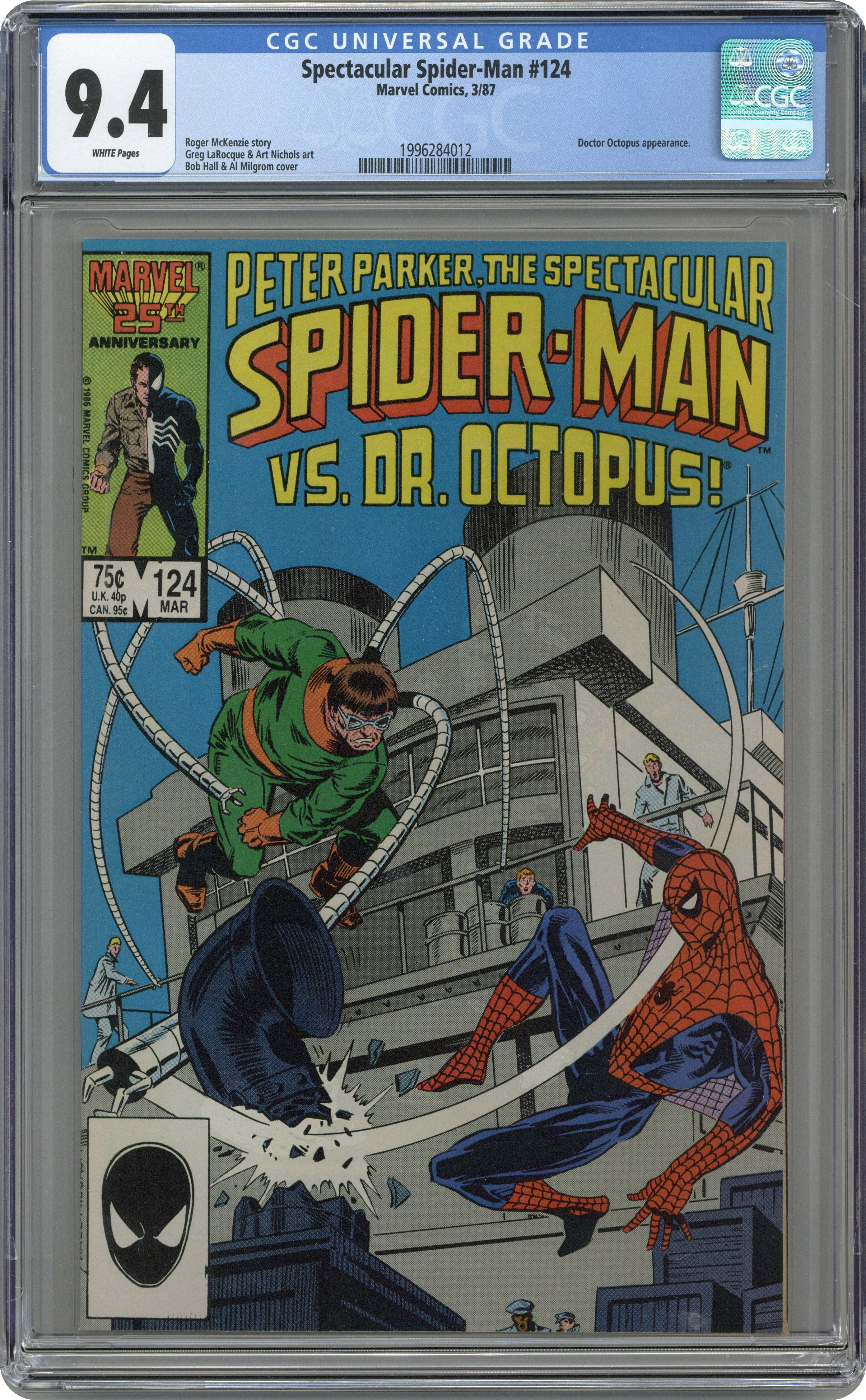 1st Series #131 1987 FN Stock Image Spectacular Spider-Man