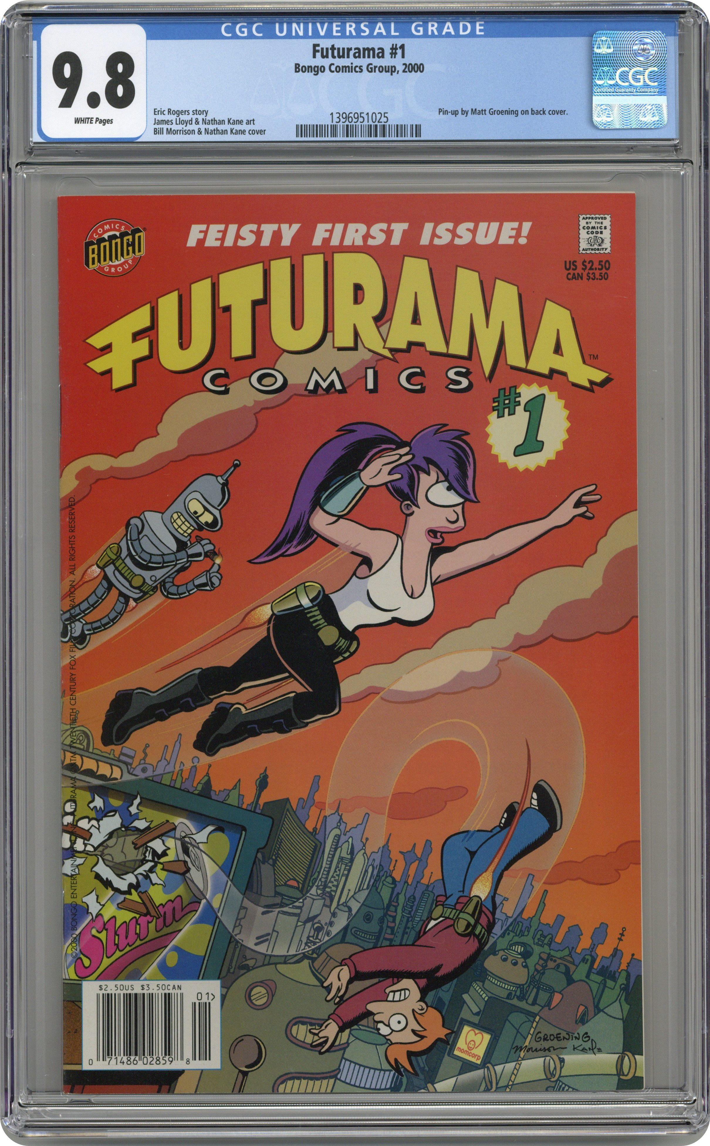 100 Images of Futurama Comic Books