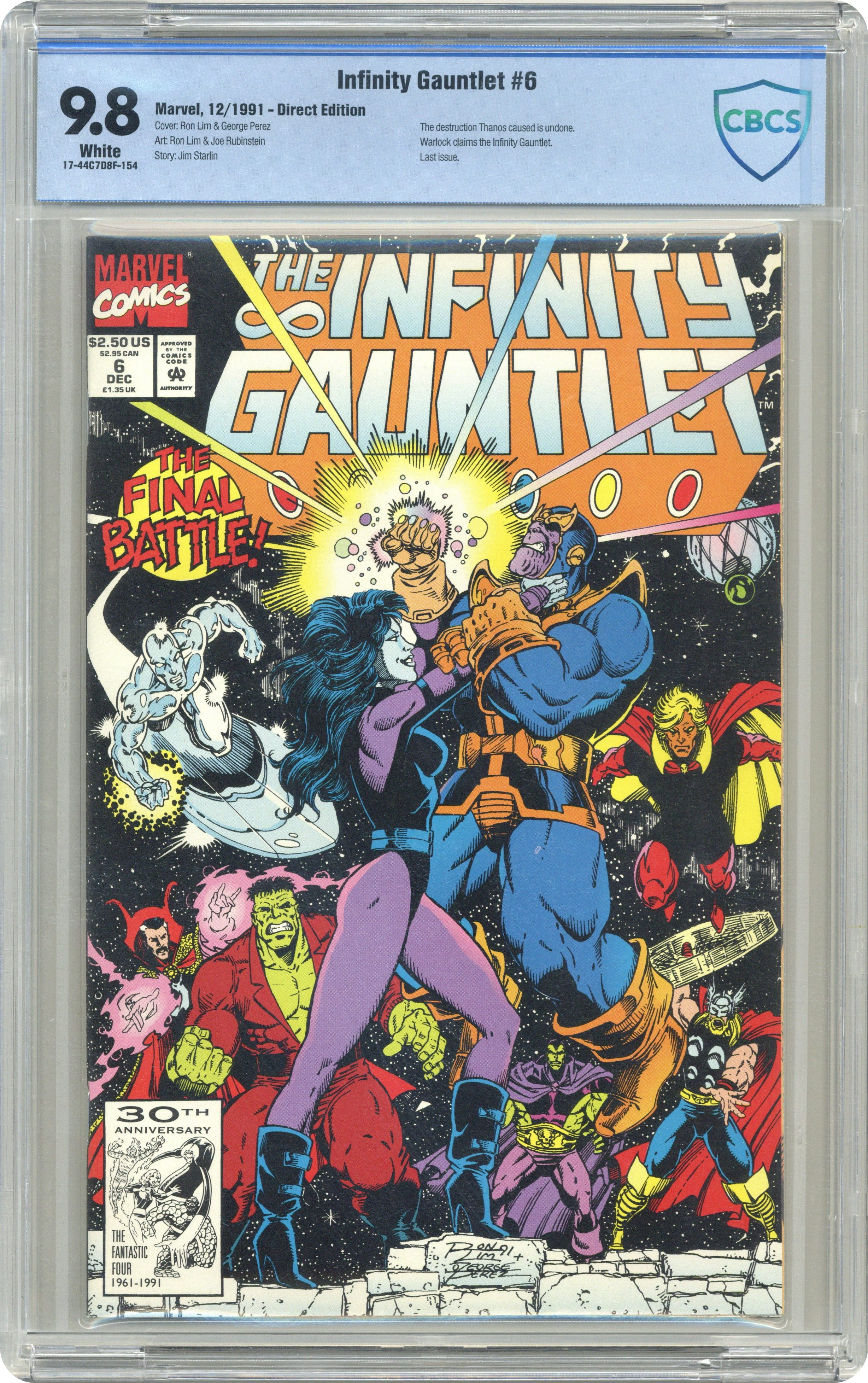 Ron Lim, 52 pages Infinity War # 5 USA, 1992 of 6
