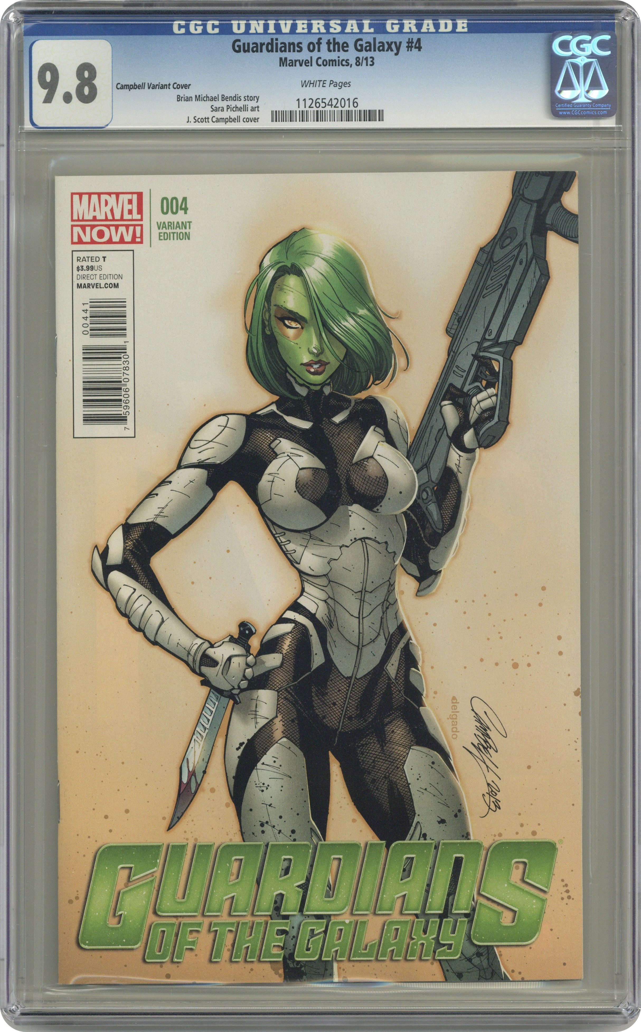 GAMORA #1A SIGNED BY J SCOTT CAMPBELL ~ Marvel Comics Guardians of the Galaxy