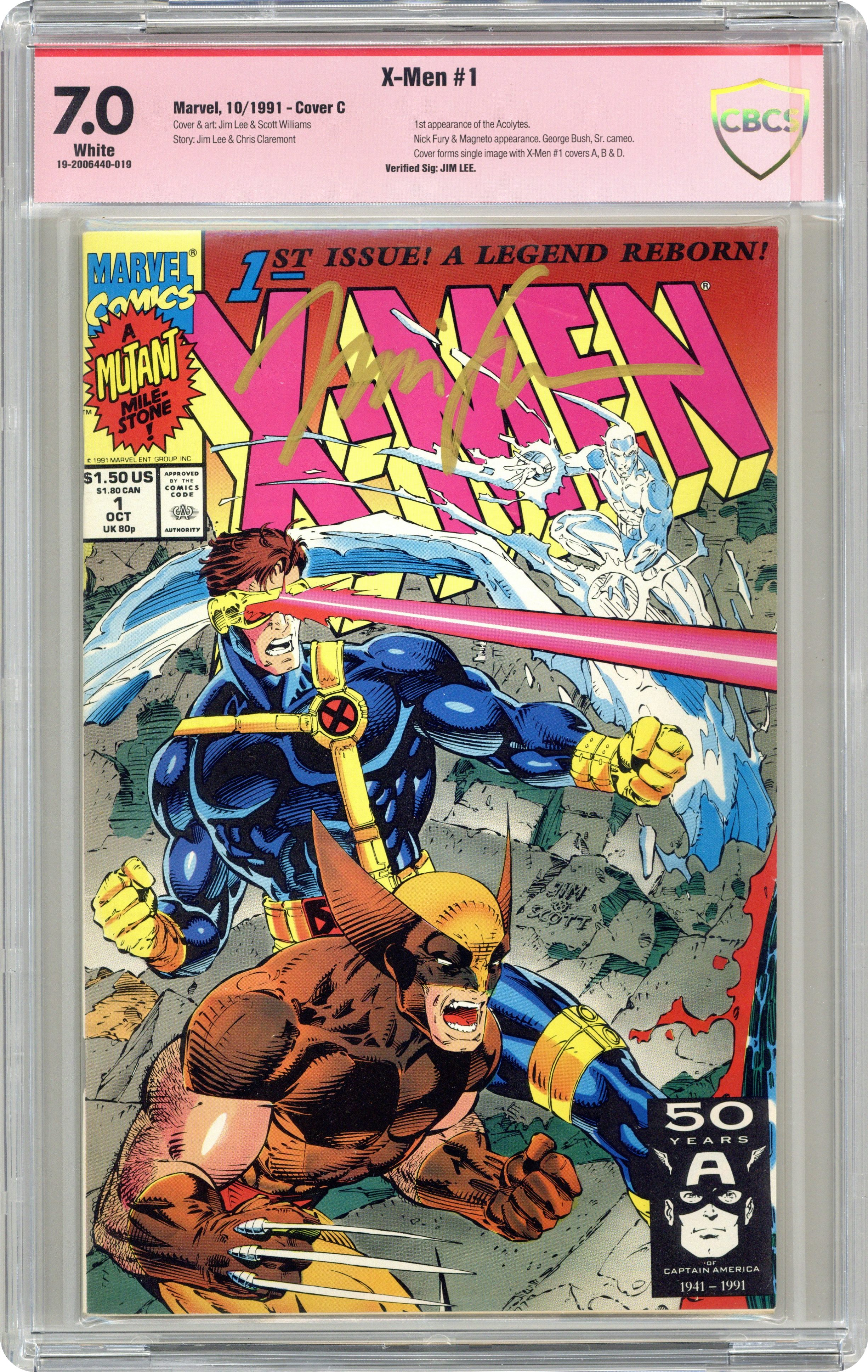 X-Men 1C Wolverine Double Gate-Fold Variant VF 1991 Stock Image