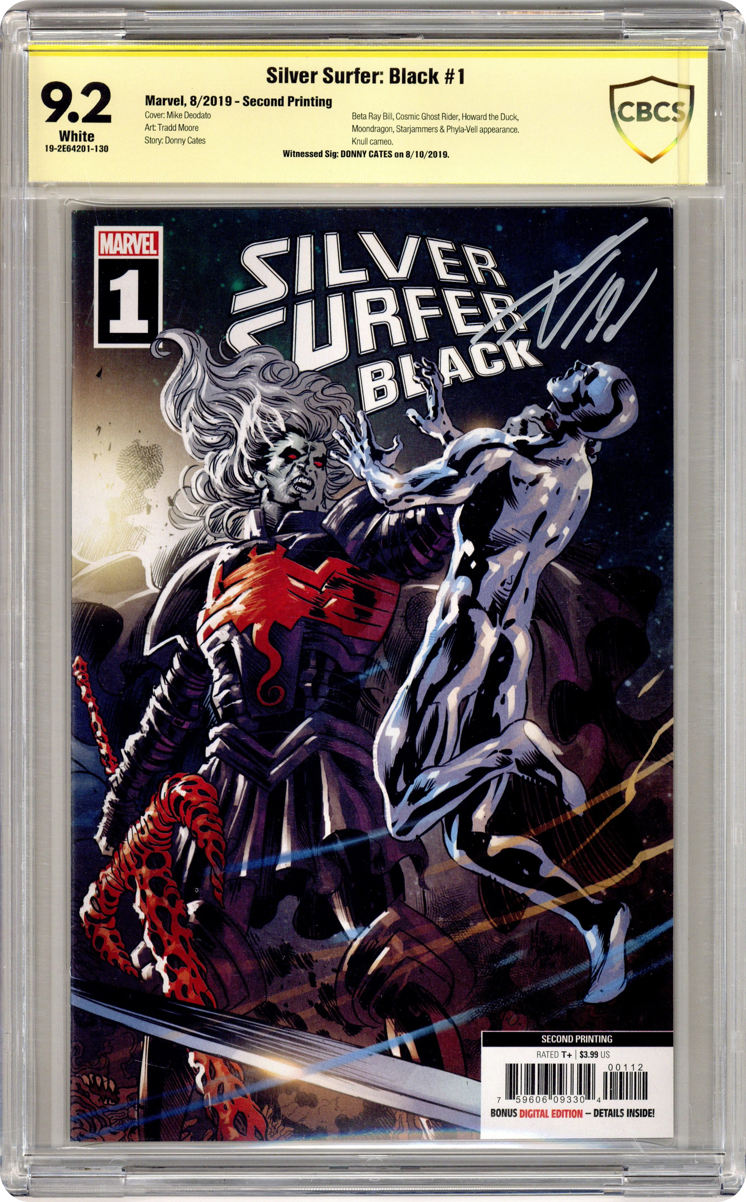 SILVER SURFER BLACK #1 MIKE DEODATO VARIANT NM 2ND PRINT MARVEL 2019