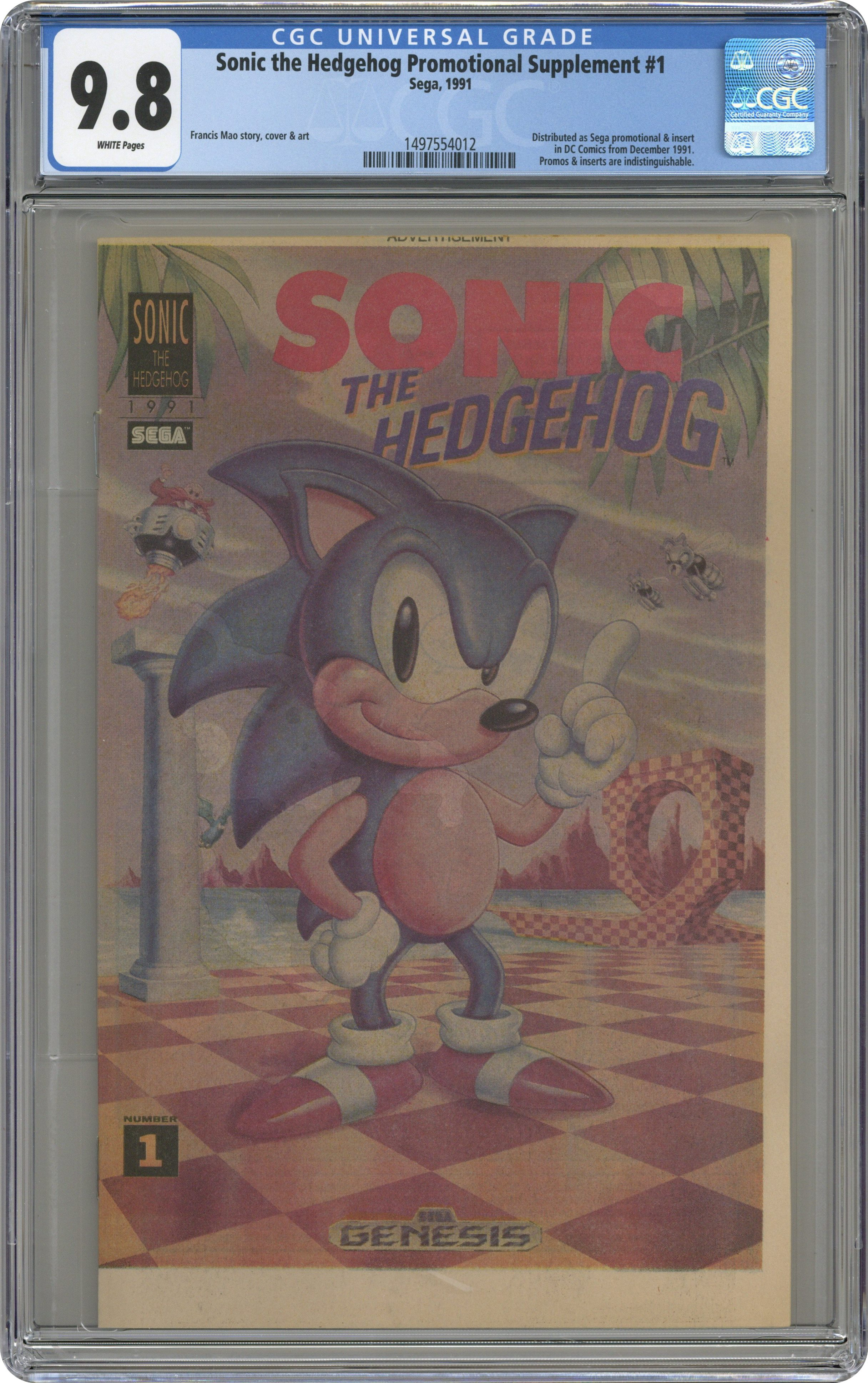 Comic Books Published By Sega Graded By Cgc