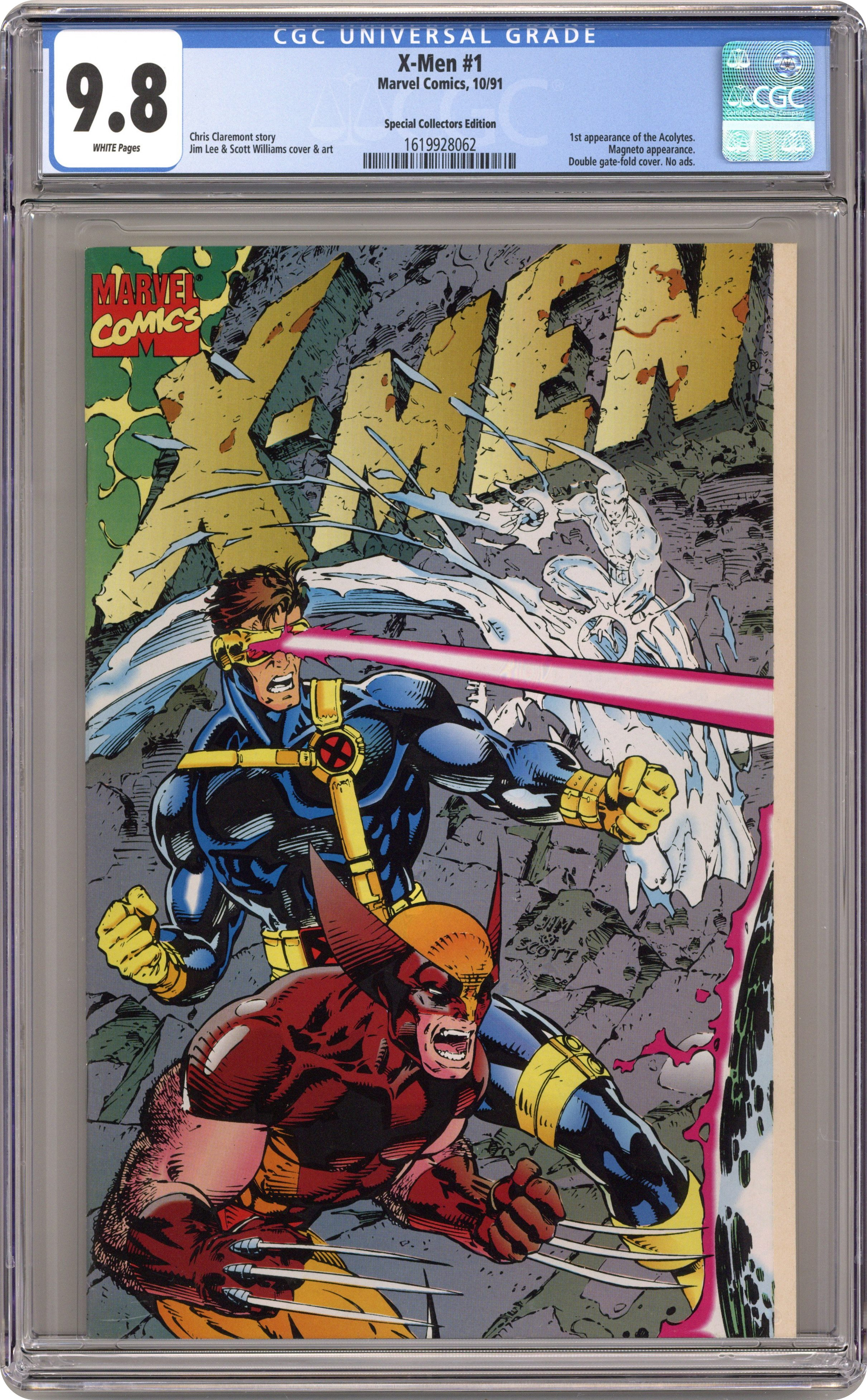 1991 X-Men #1 CGC NM//M 9.8 White Pages Special Collectors Edition!