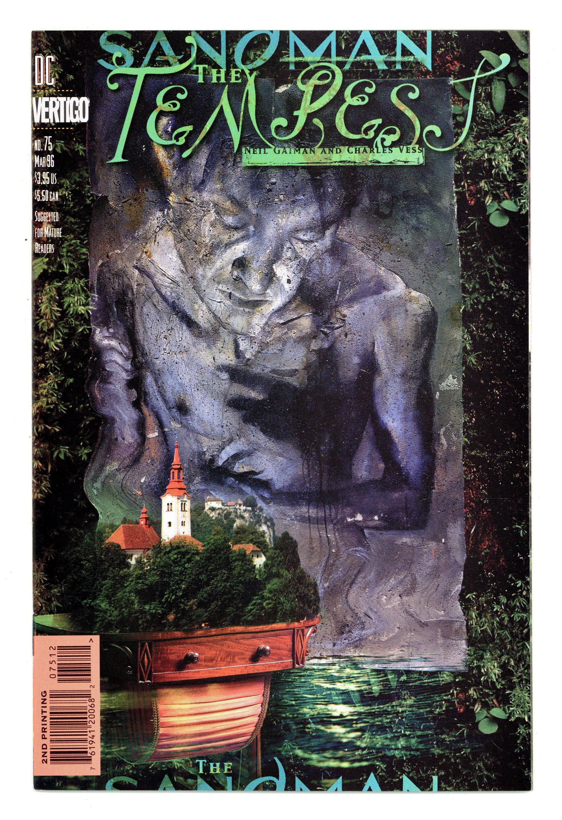 Sandman #75 Comic DC Vertigo 1996 FINAL ISSUE Tempest Neil Gaiman Charles Vess