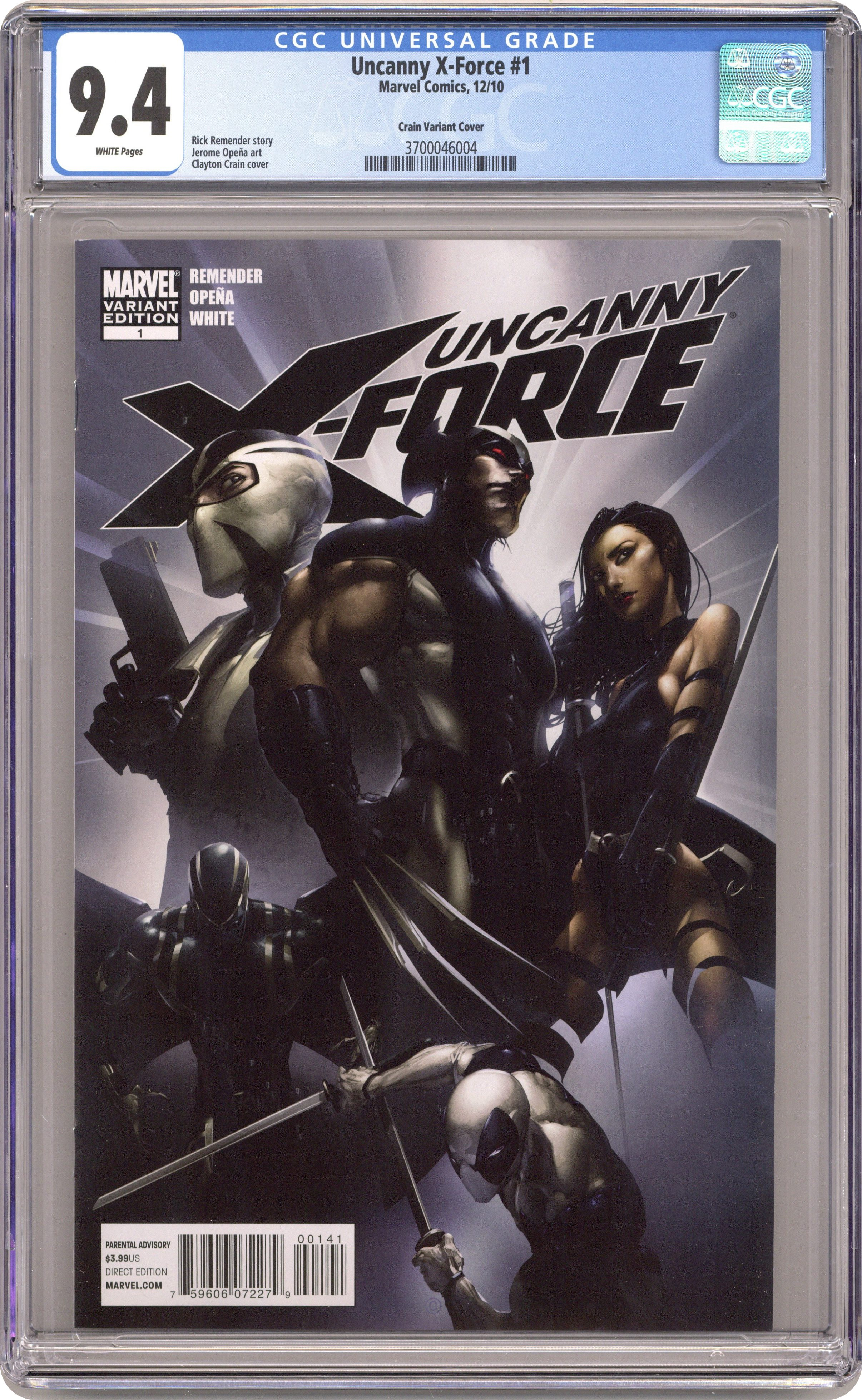 X-Force #1 metallic variant cover Cable Rob Liefeld 9.4