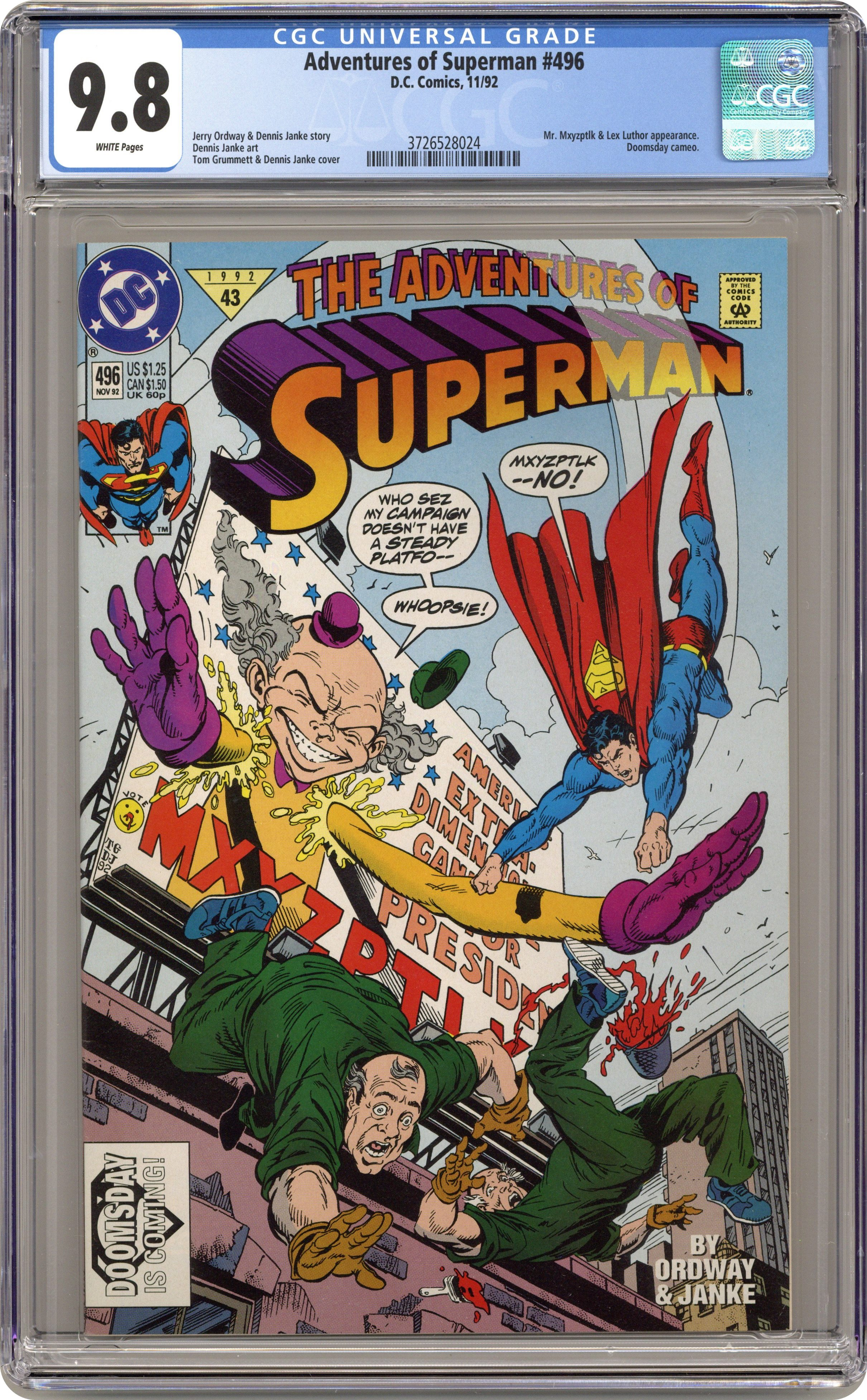 Superman #64 FN 1992 Stock Image