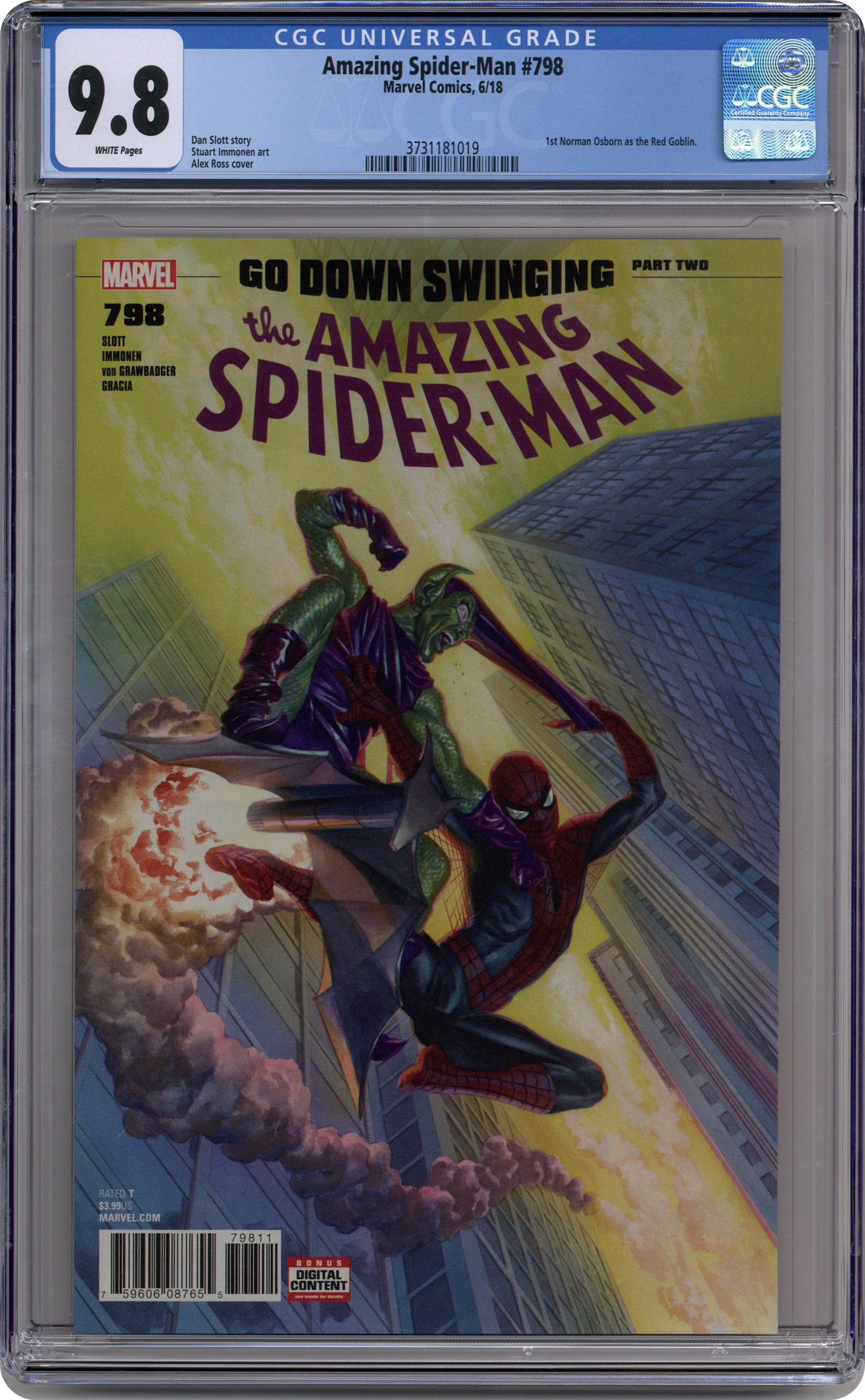 AMAZING SPIDER-MAN ONGOING SERIES LISTING STARTS AT #798//2018 #1-48 INCLUDED